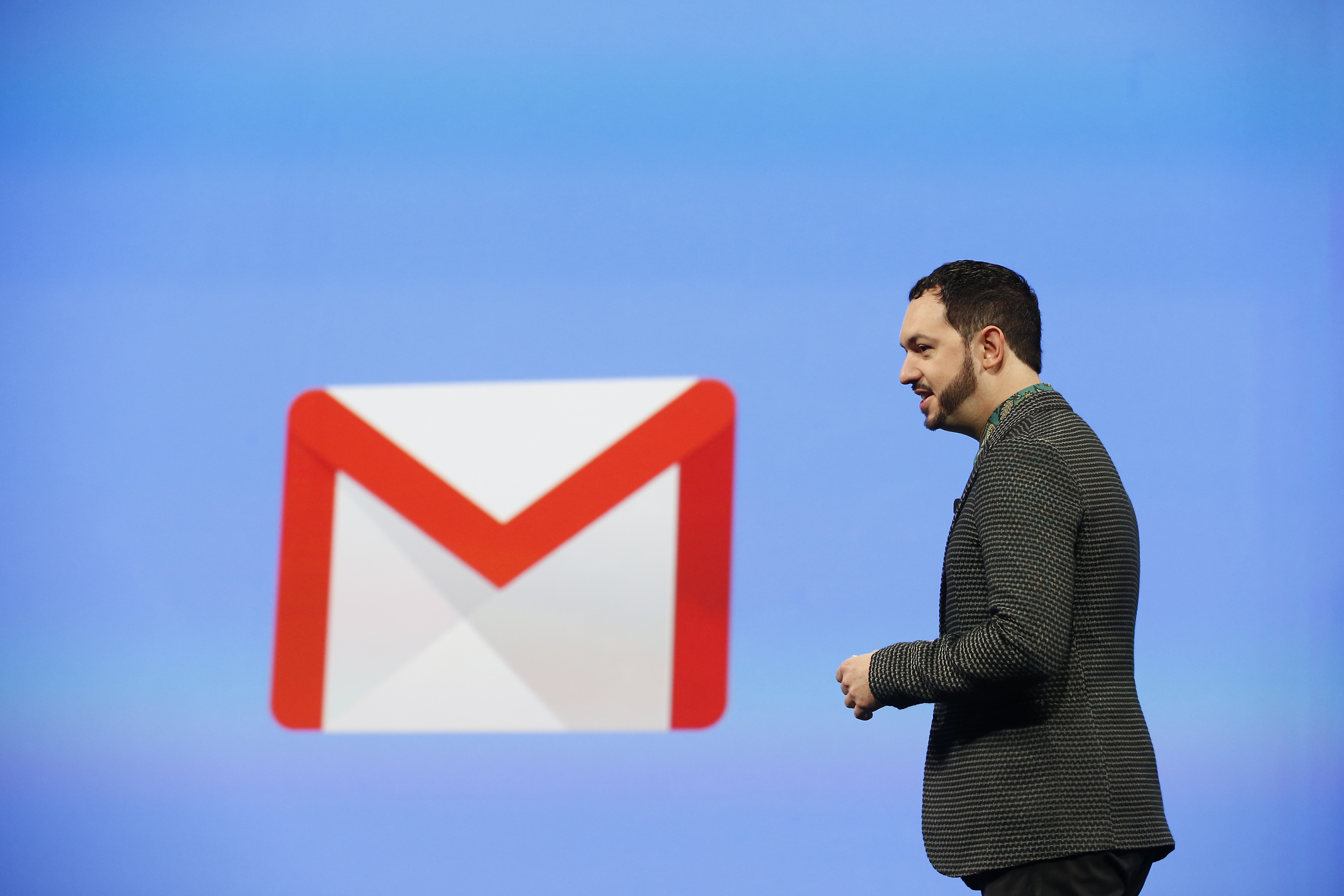 Matias Durante, Vice President, Design at Google, speaks on stage during the Google I/O Developers Conference at Moscone Center on June 25, 2014 in San Francisco, California.