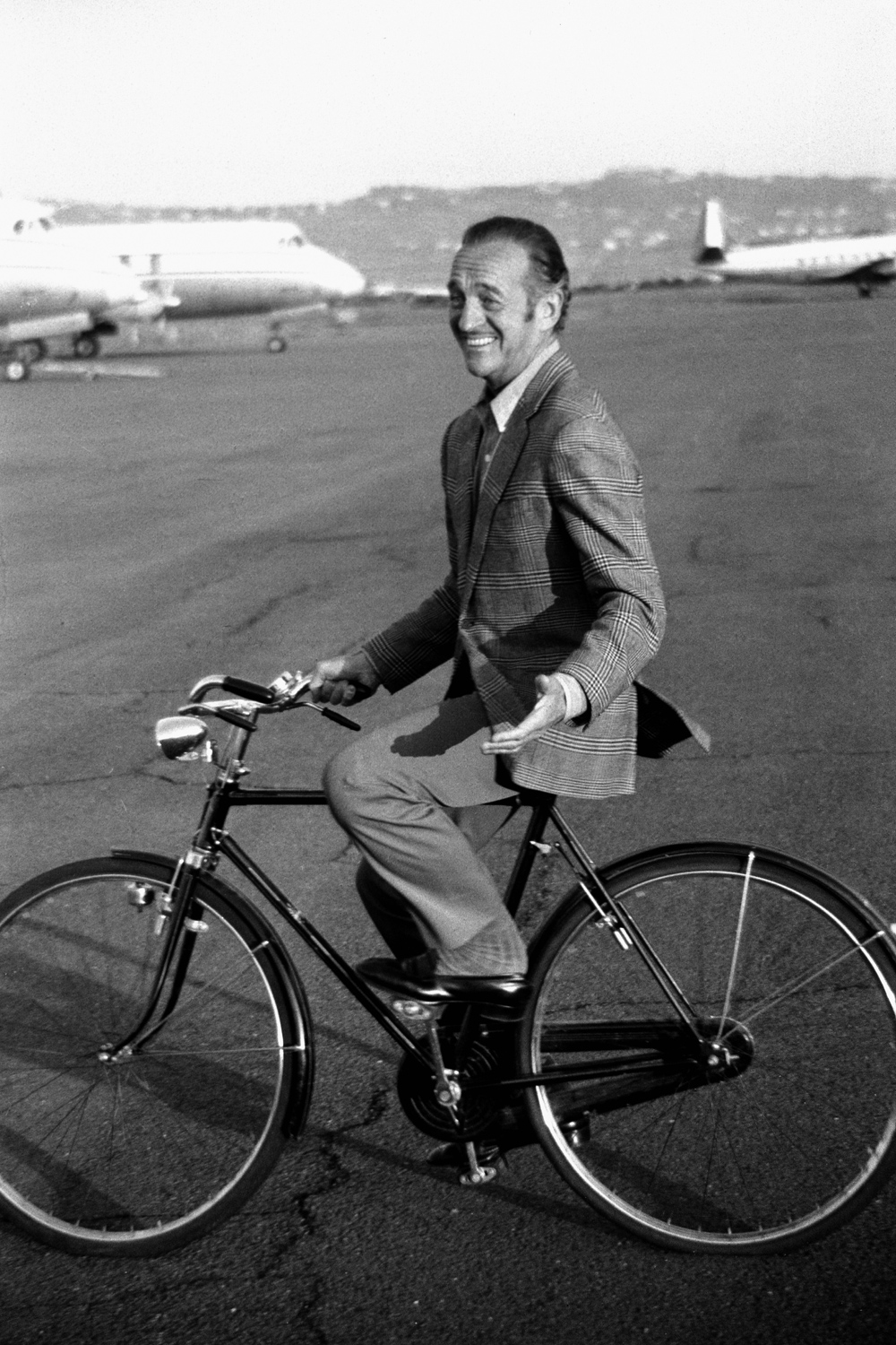 British actor David Niven appears in Italy in 1970.