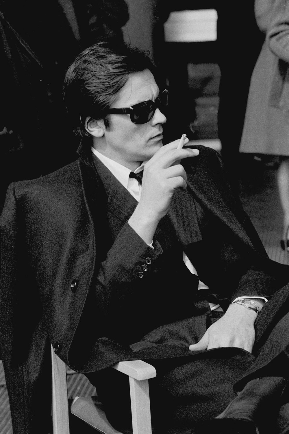 The French actor Alain Delon appears while making 'The Sicilian Clan' in Rome in 1969.