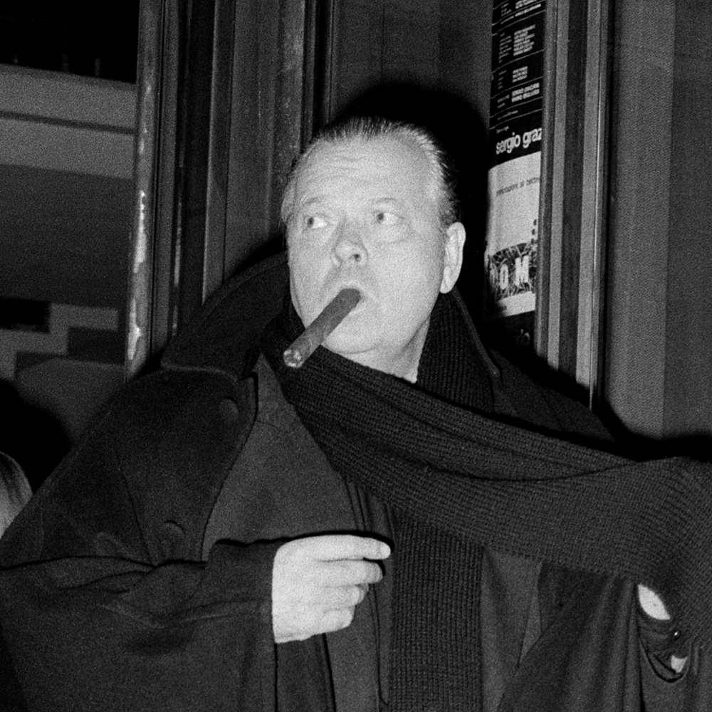 American film director, actor and producer Orson Welles appears in Rome in 1969.