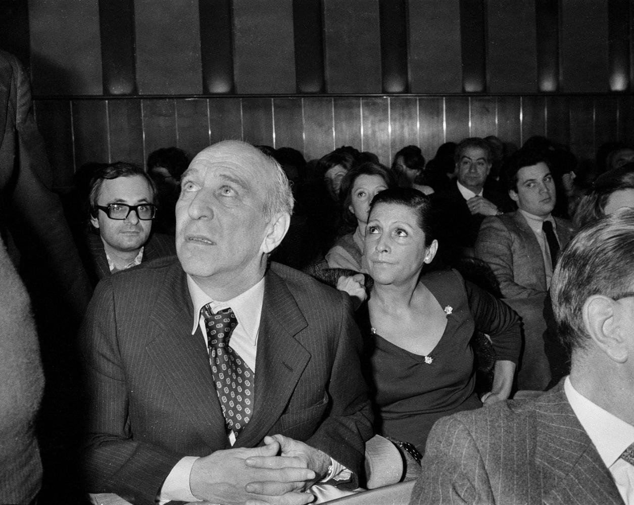 Italian film director Giuliano Montaldo and his wife Vera Pescarolo, seen in 1979.