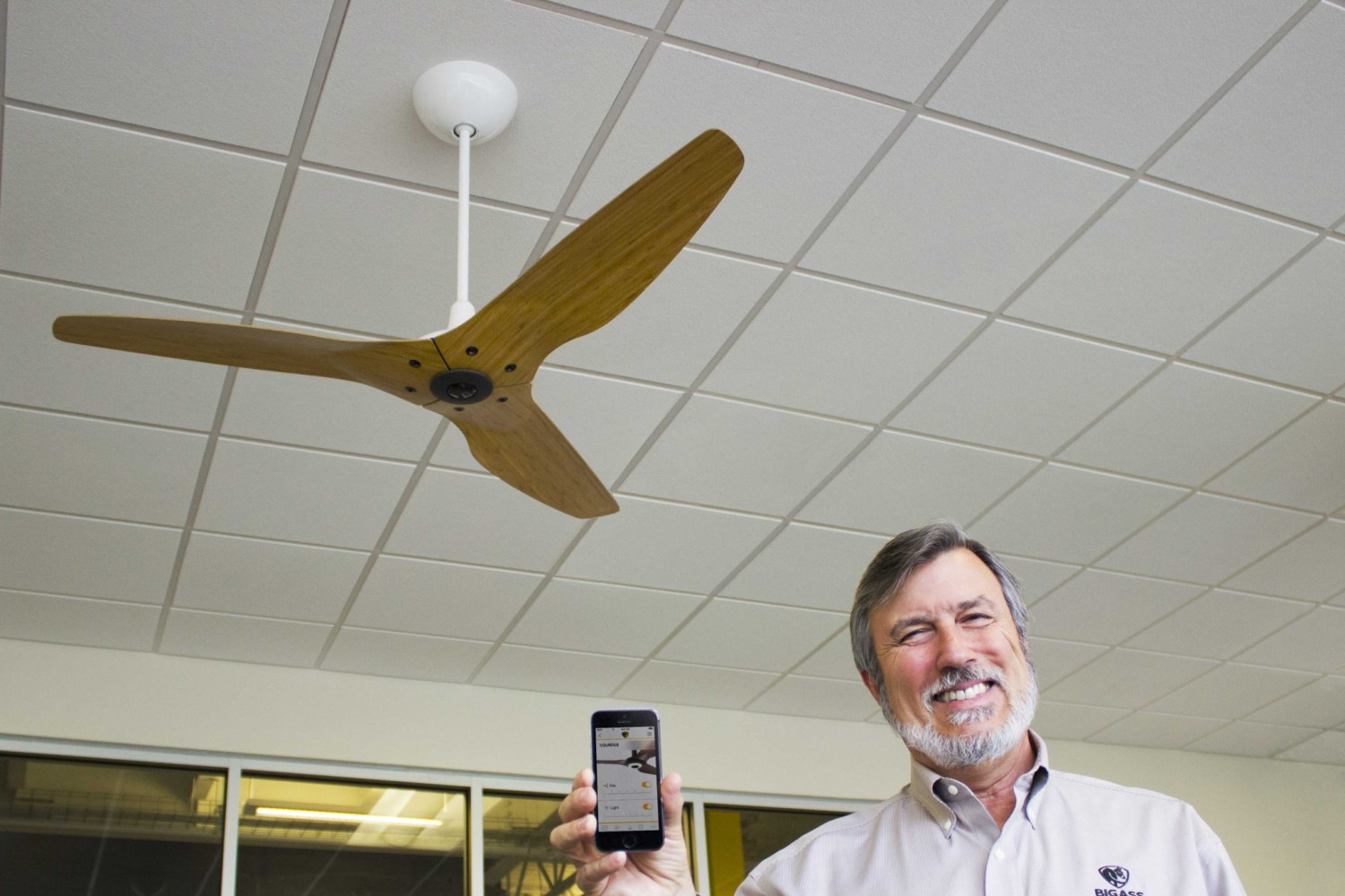 The Haiku fan is the world's first smart ceiling fan, designed with an on-board computer and array of sensors