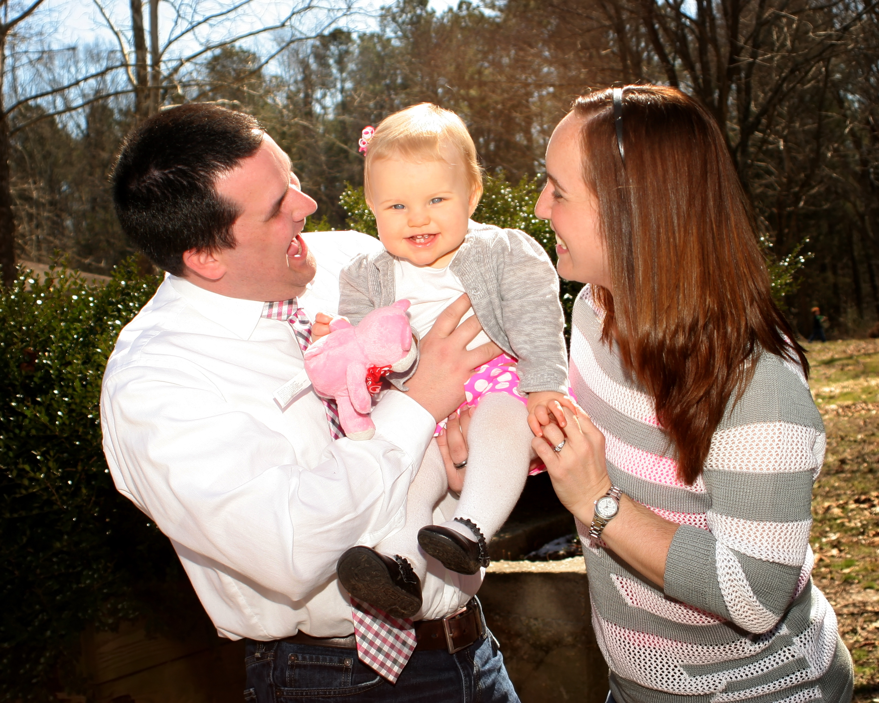 Author Ben Banks with daughter Finley and wife Kasiah