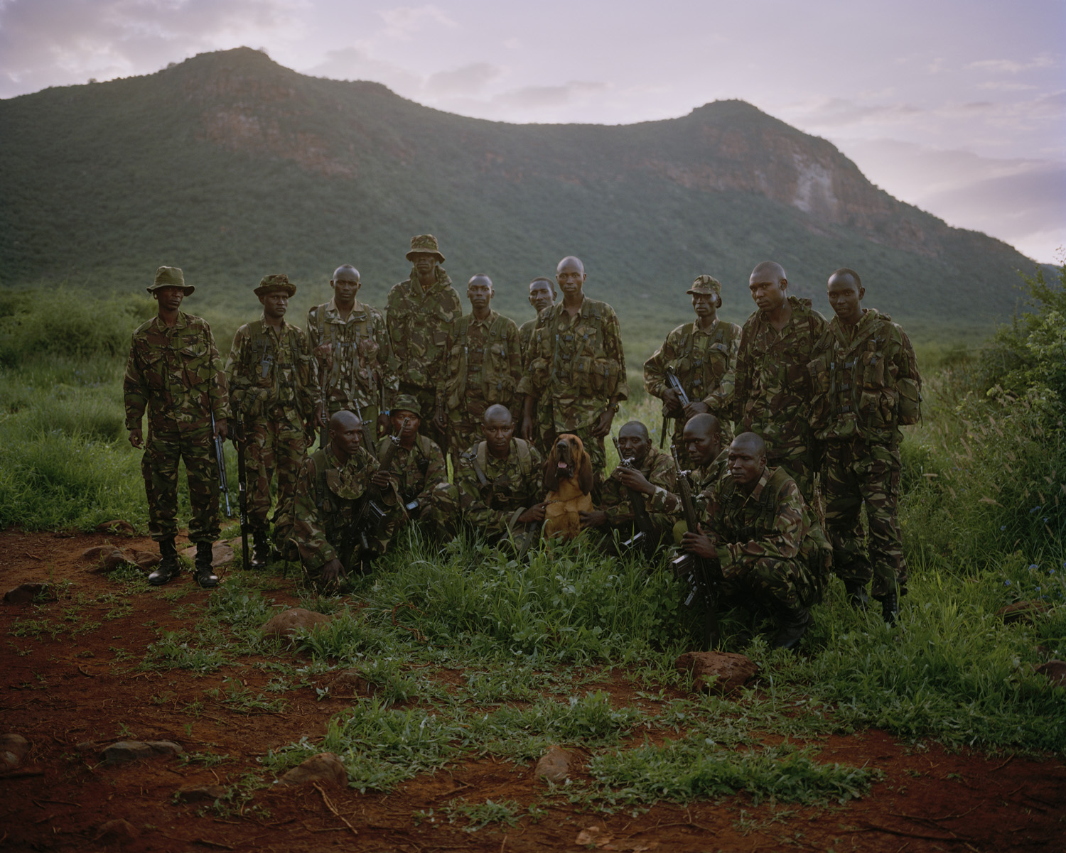 Call sign 9.2, Isiolo County, northern Kenya.                                                              '9.2' is a mobile multi-ethnic anti poaching unit who can respond quickly and effectively to any given situation, not just poaching, across all of the Northern Rangelands Community Conservancies, without fear of tribal conflict. They live in the bush for 26 days of each month, returning to base to rest and re-equip for the remaining four days of each month.
