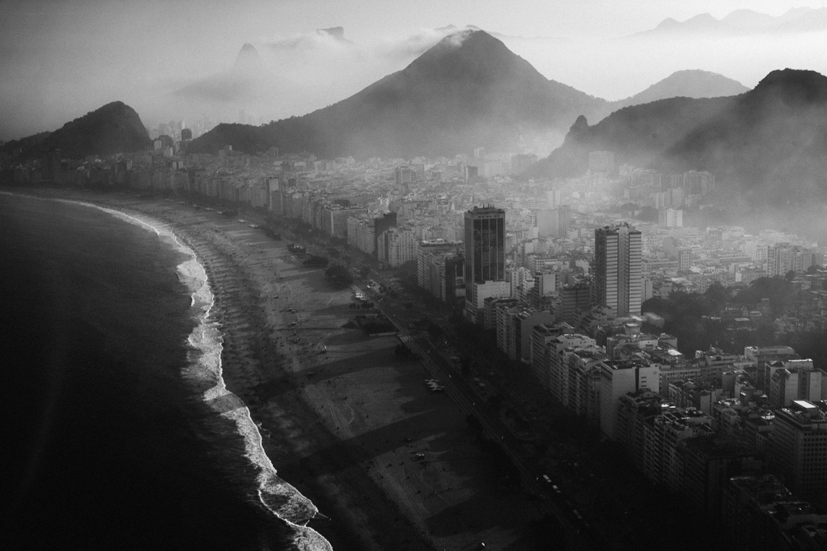We had a few hairy moments in the helicopter over Rio de Janeiro when the weather was windy and stormy,  Nabil Elderkin tells TIME.