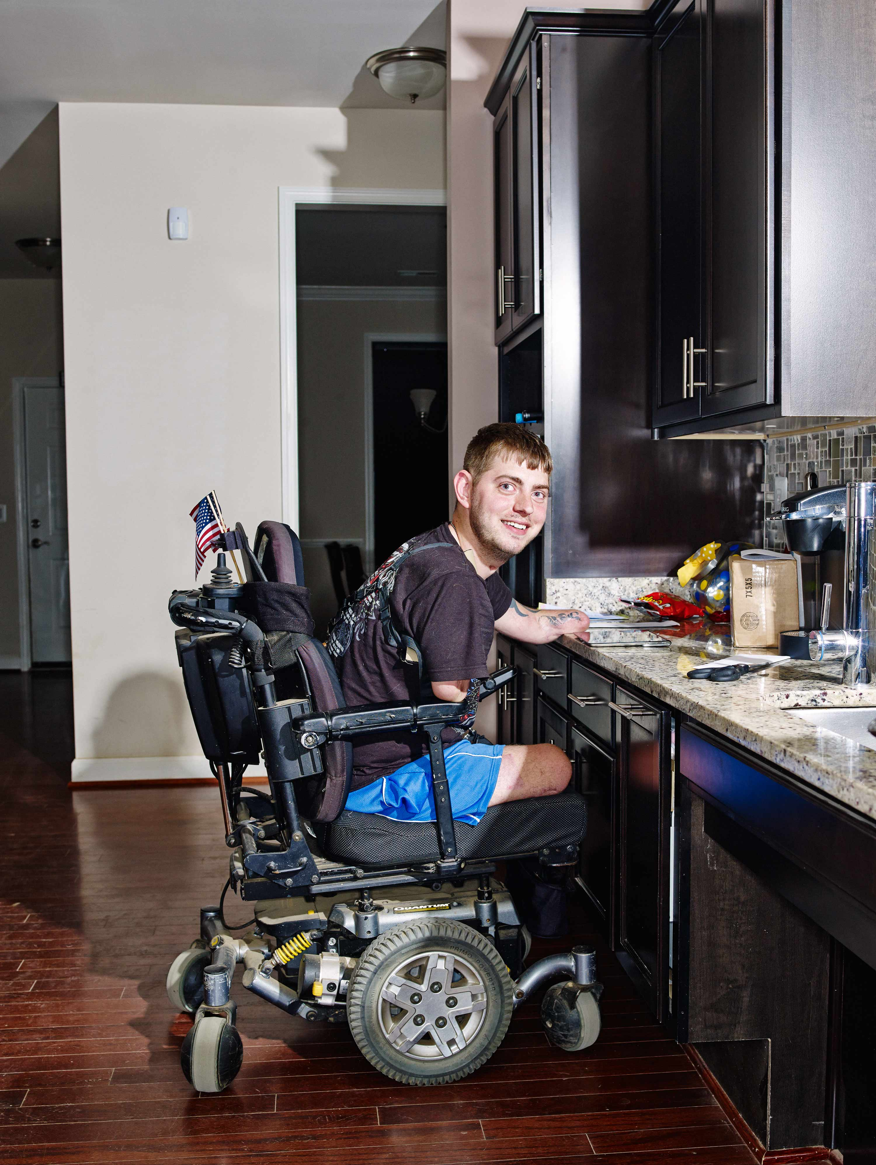 Retired Marine Sergeant John Peck lost all four of his limbs after stepping on IED in Afghanistan in 2010. Today, however, Peck lives in a house built by the Stephen Siller Tunnel to Towers Foundation that was designed to serve his individual needs.