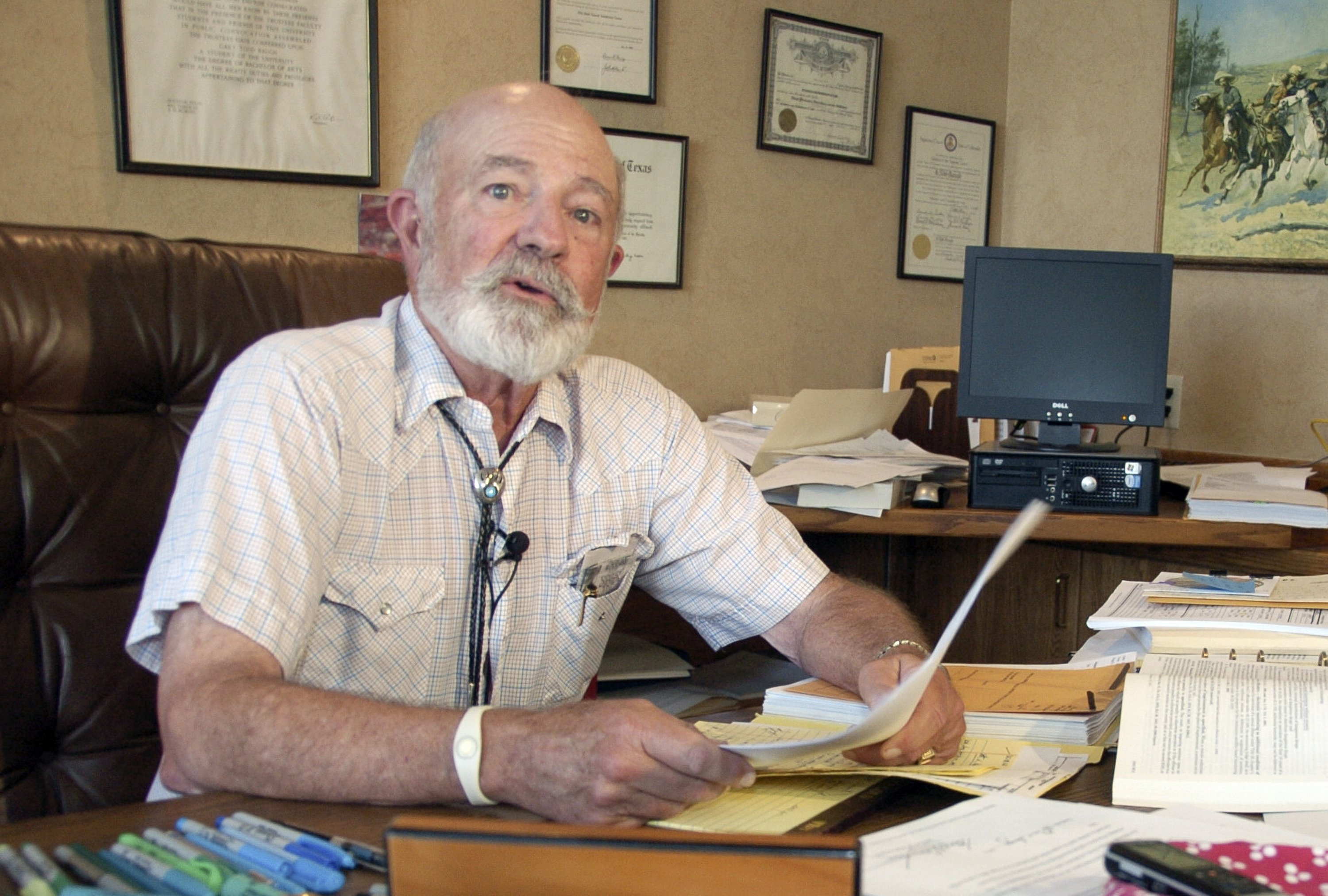 Montana District Judge G. Todd Baugh reads a statement on Aug. 28, 2013 apologizing for remarks he made about a 14-year-old girl raped by a teacher in Billings, Mont.