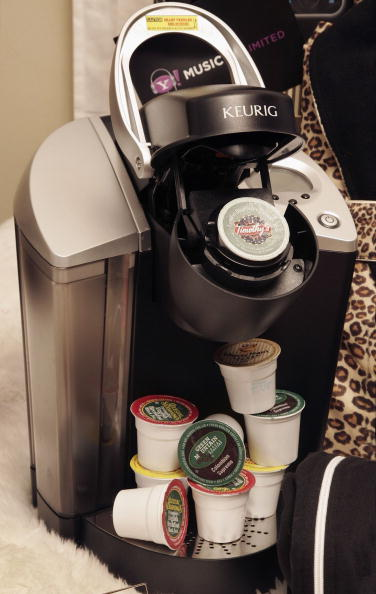 A Keurig coffee brewer, part of the Grammy Gift Bag from the 48th Annual Grammy Awards.