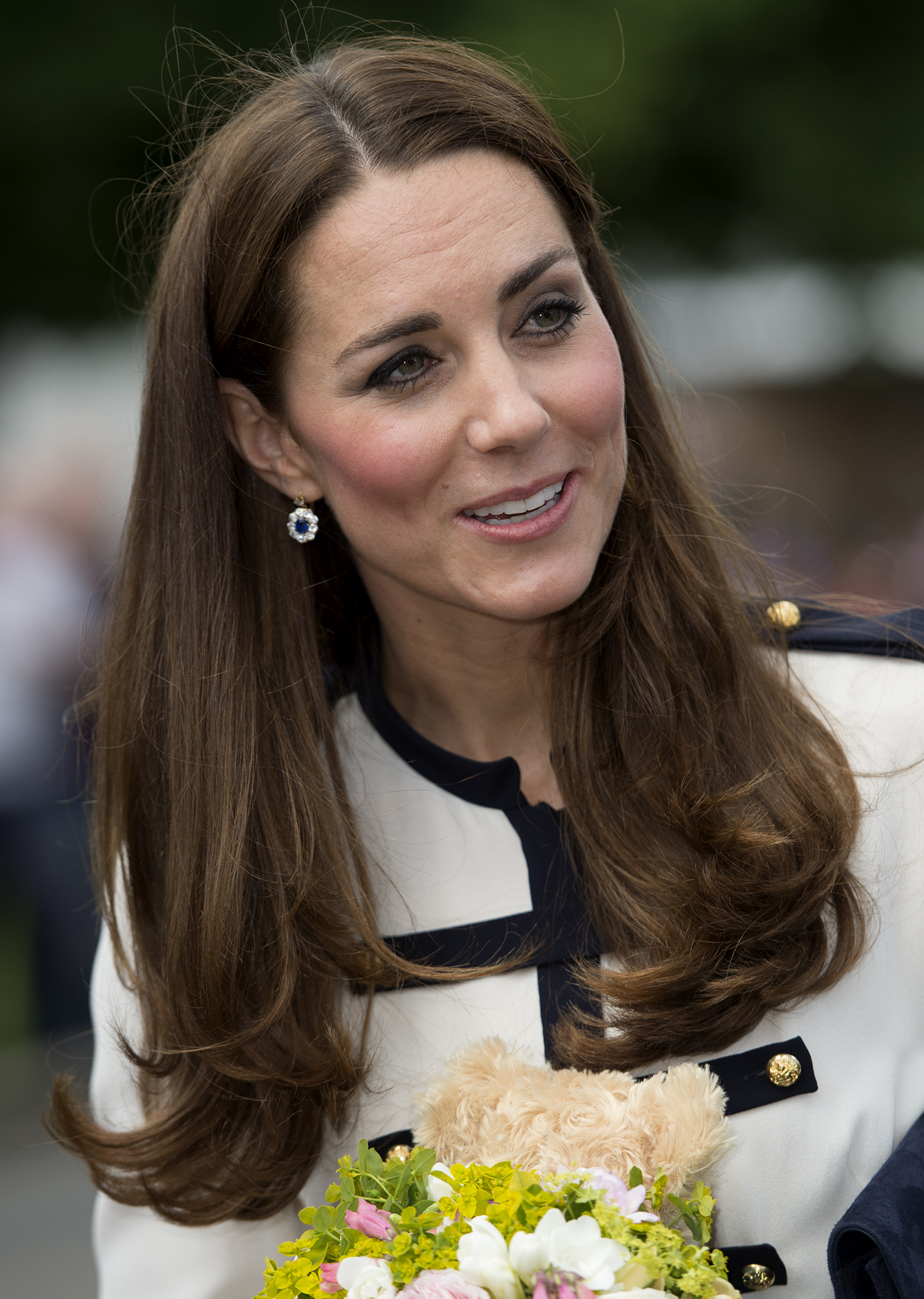 Kate Middleton tours Bletchley Park on June 18 in Bletchley, England.