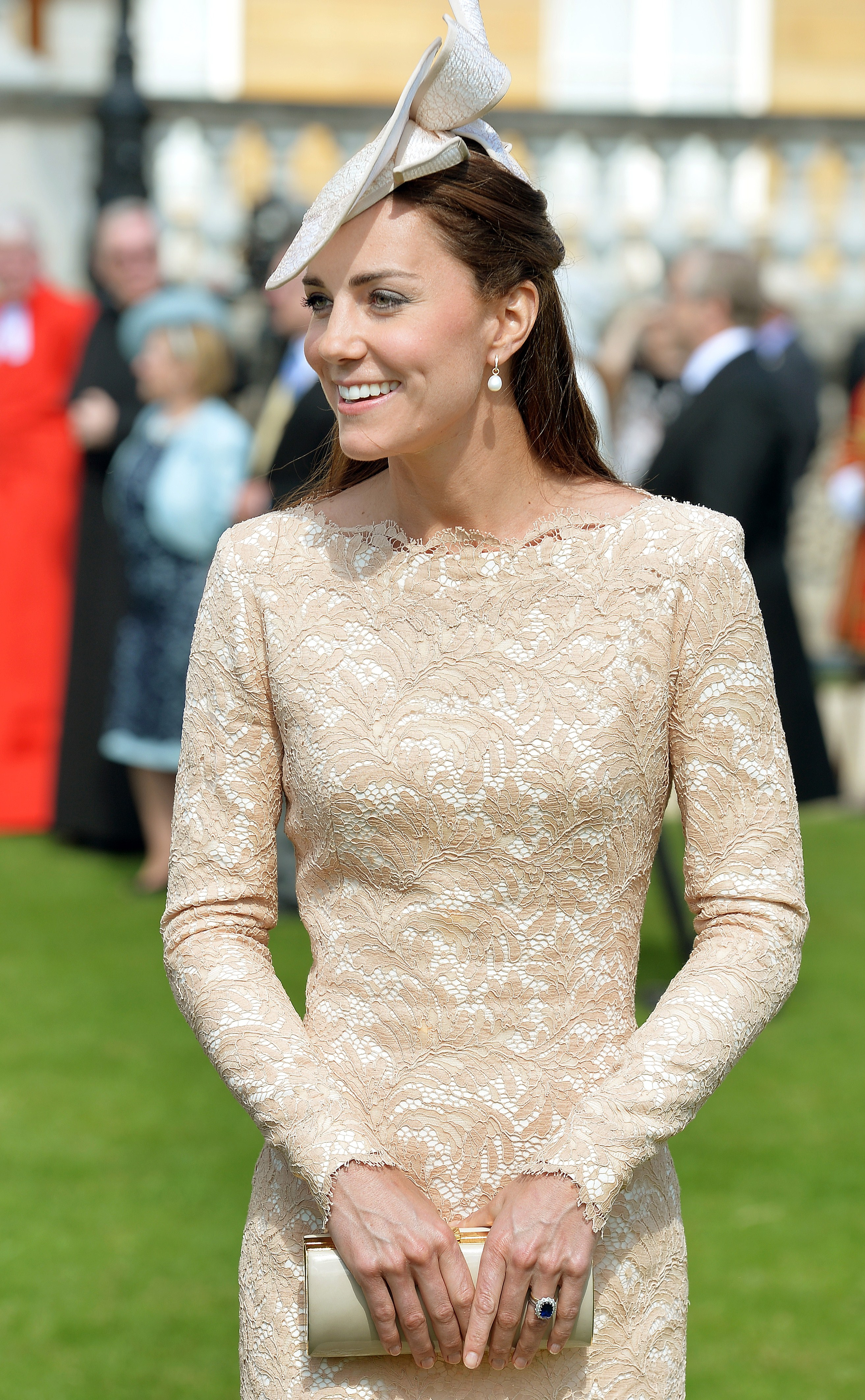 <strong>Straitlaced Look</strong>Britain's Catherine, Duchess of Cambridge, attends a garden party at Buckingham Palace in London on June 10, 2014.