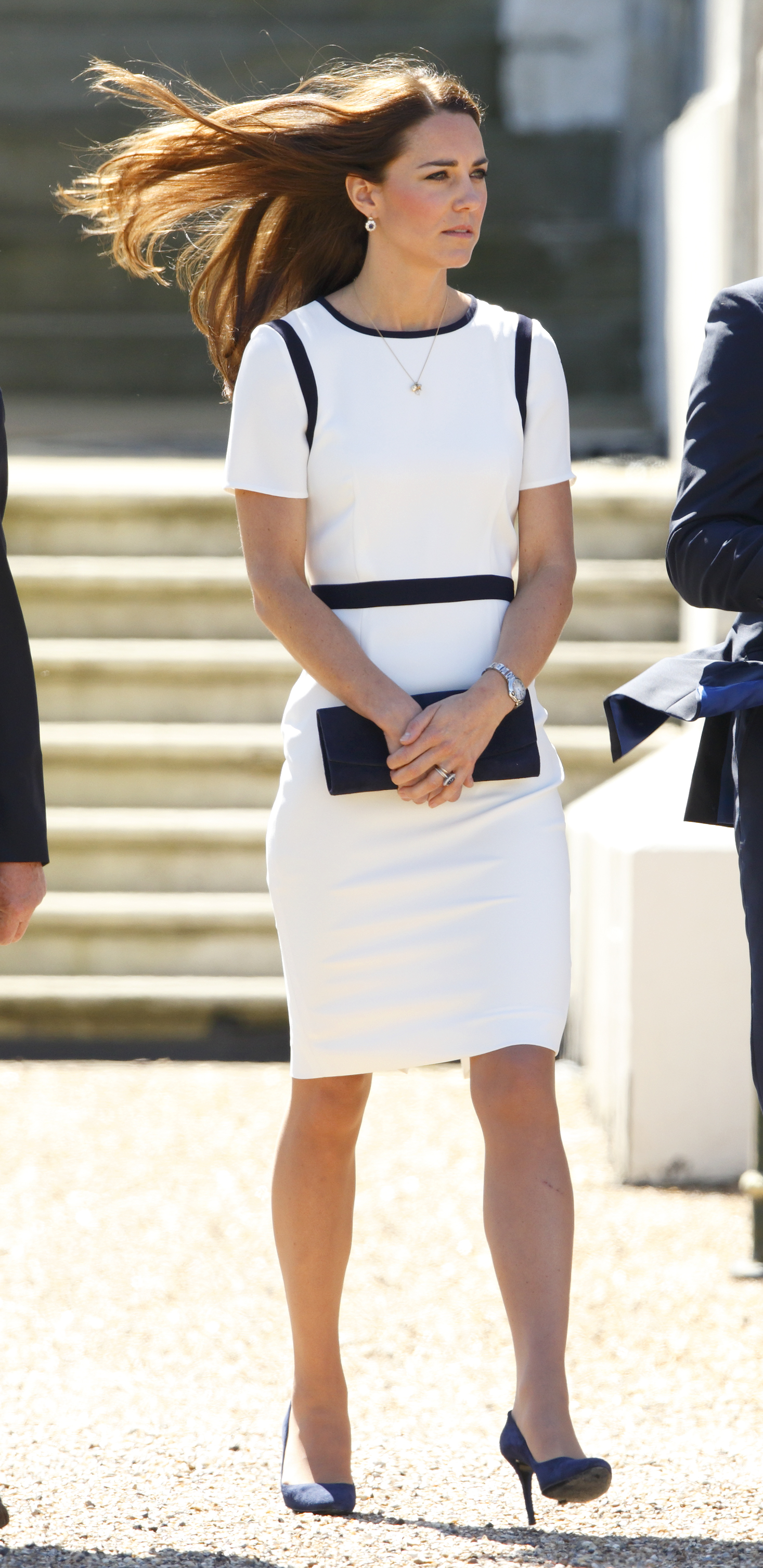 <strong>Nautical Style</strong>Catherine, Duchess of Cambridge attends the Ben Ainslie Racing America's Cup Launch Event at the National Maritime Museum in Greenwich on June 10, 2014 in London.