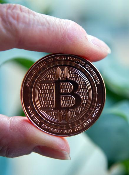 A Bitcoin medal.