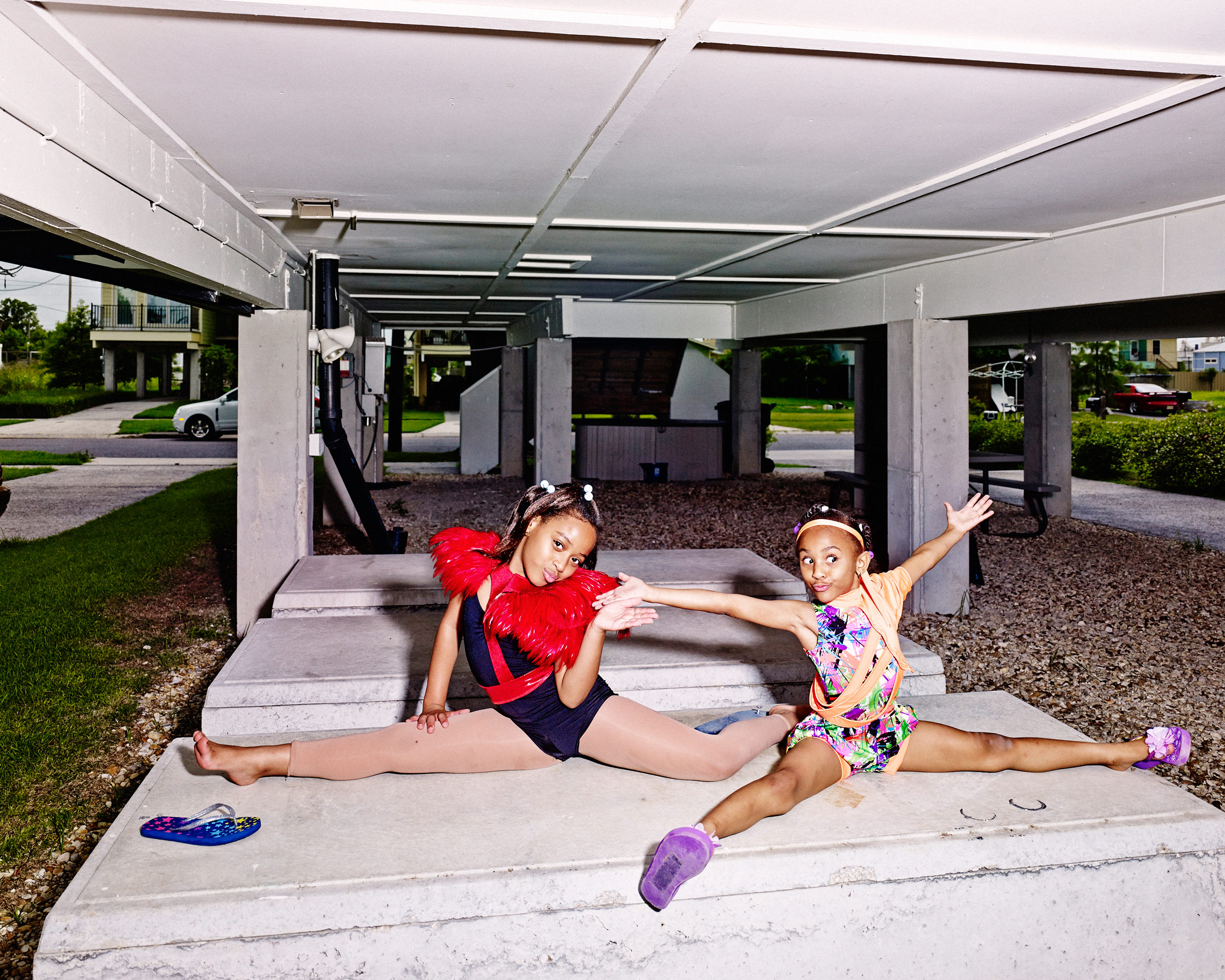 The children love to play under the house, which sits on 8-ft. concrete-and-steel stilts to protect it from flooding.