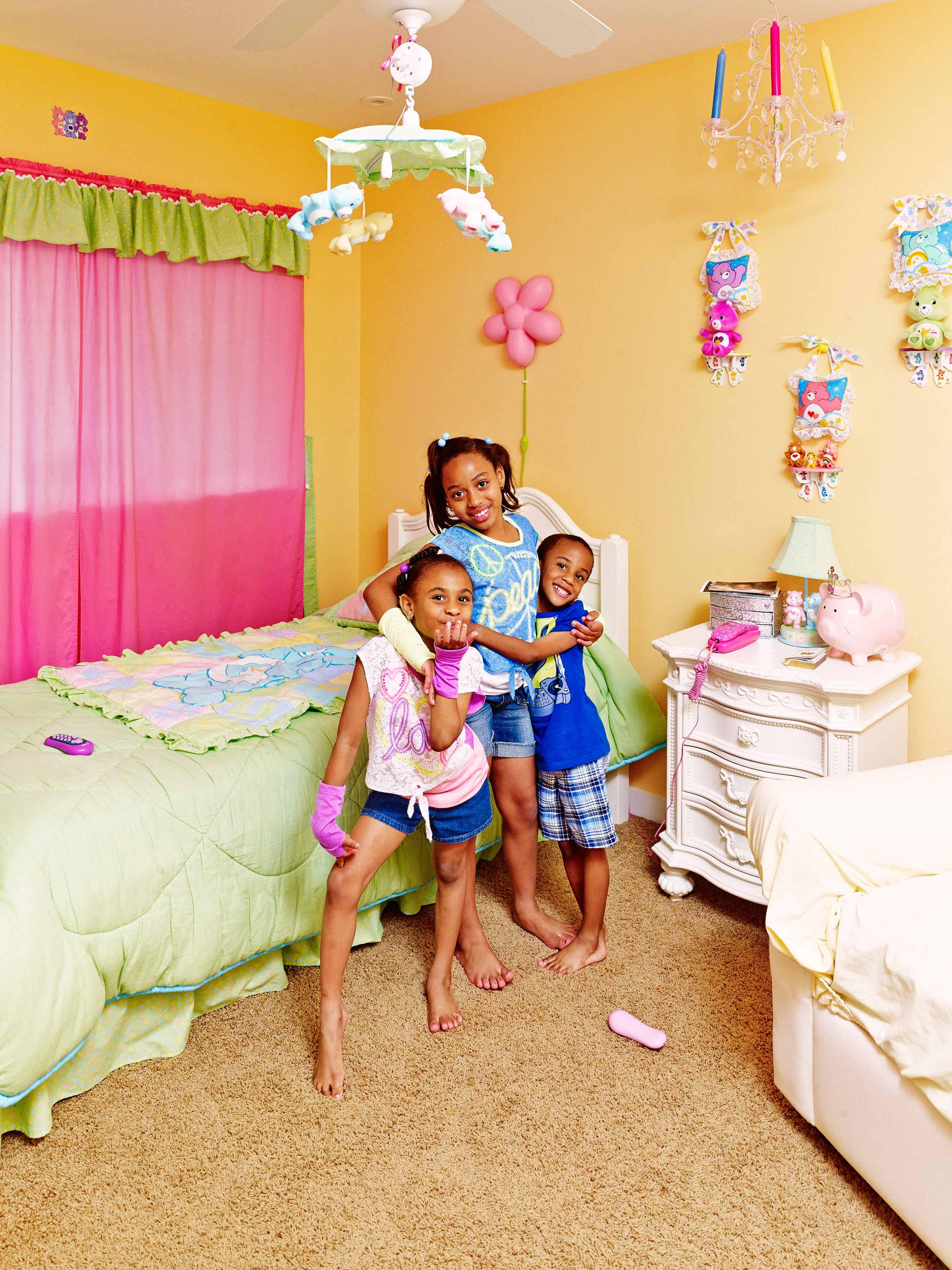 Archie's grandkids Demori, 5, Kaleah, 8, andDalonté, 4.