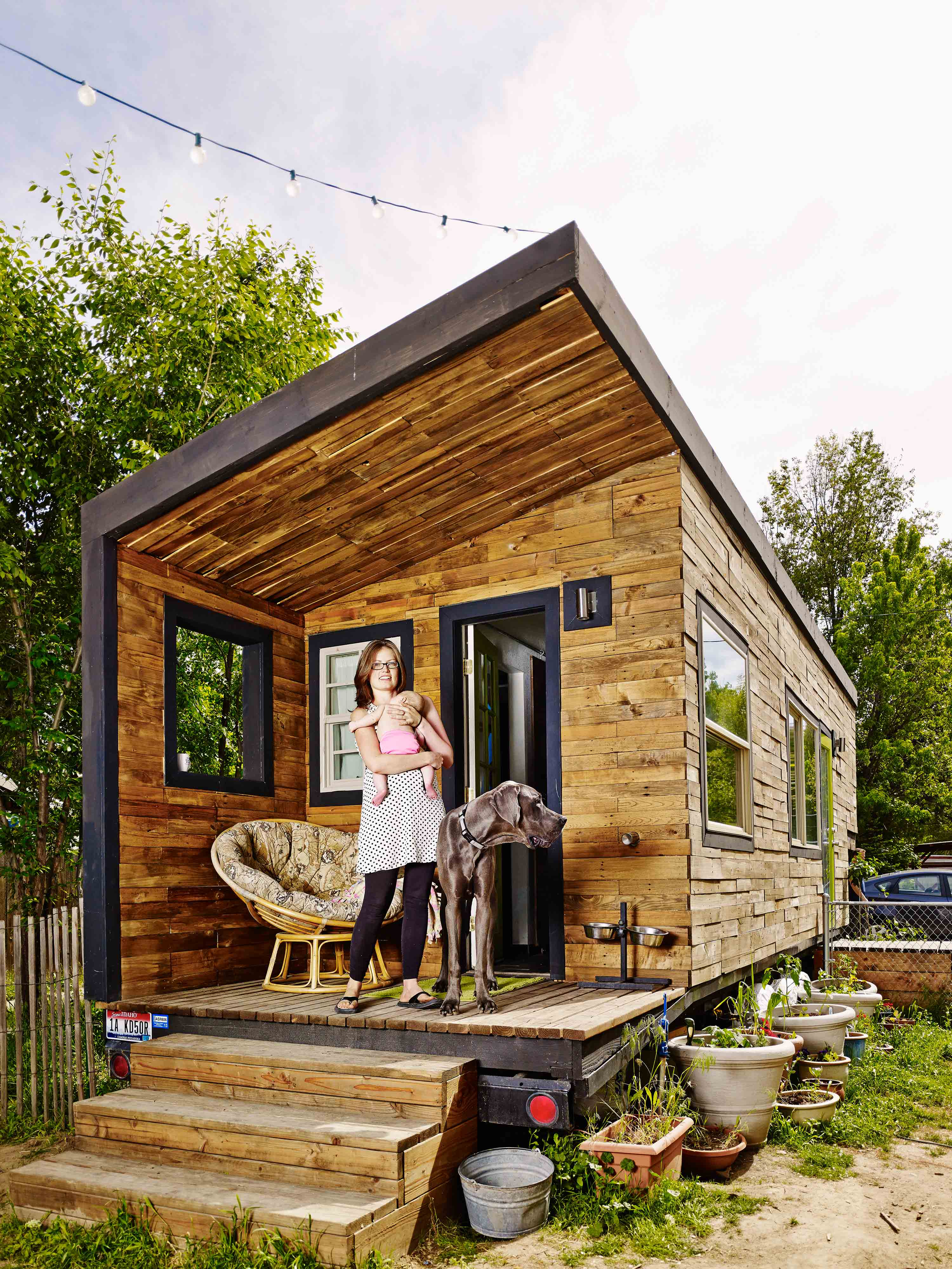 To build her 200sq.ft. tiny home in Boise, Idaho in 2007, Macy Miller, then a 22-year-old architect, bought a flatbed trailer ($500), rented a 0.125-acre lot ($200 a month) and spent 18 months tinkering with the construction.