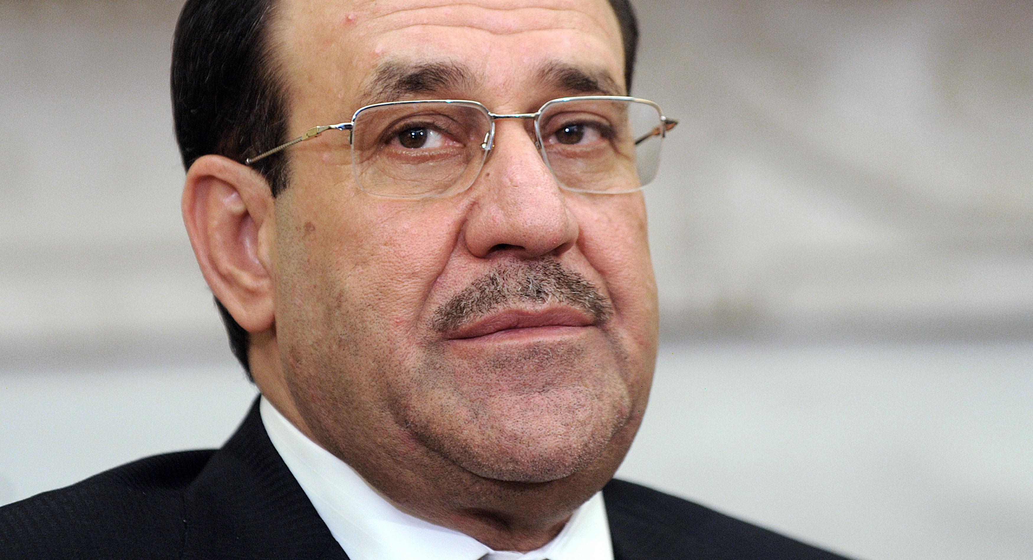 Iraqi Prime Minister Nouri al-Maliki speaks during a meeting with U.S. President Barack Obama at the White House, in Washington, on Nov. 1, 2013