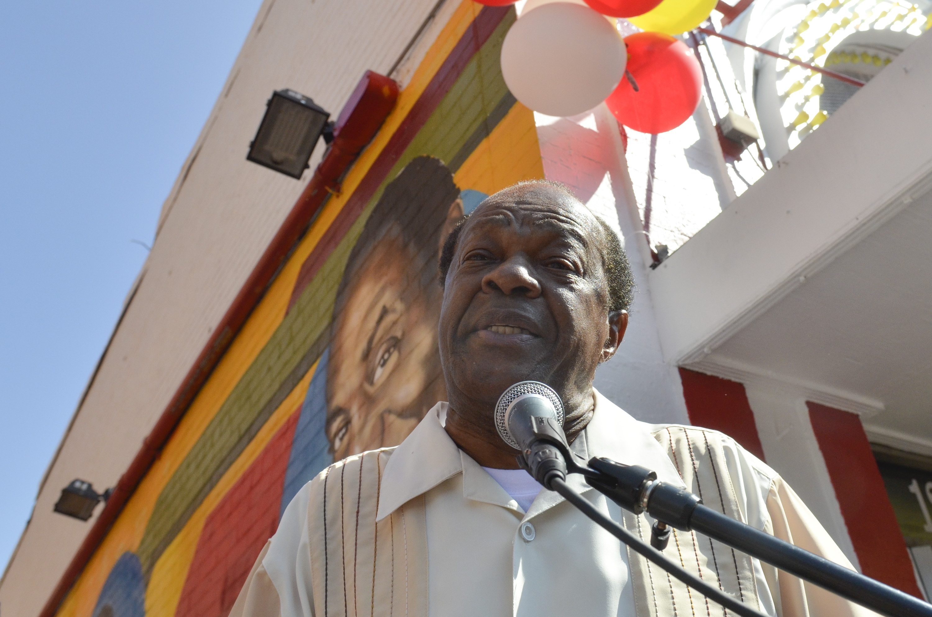 Marion Barry speaks during the 55th Anniversary of Ben's Chili Bowl on August 22, 2013 in Washington, DC.