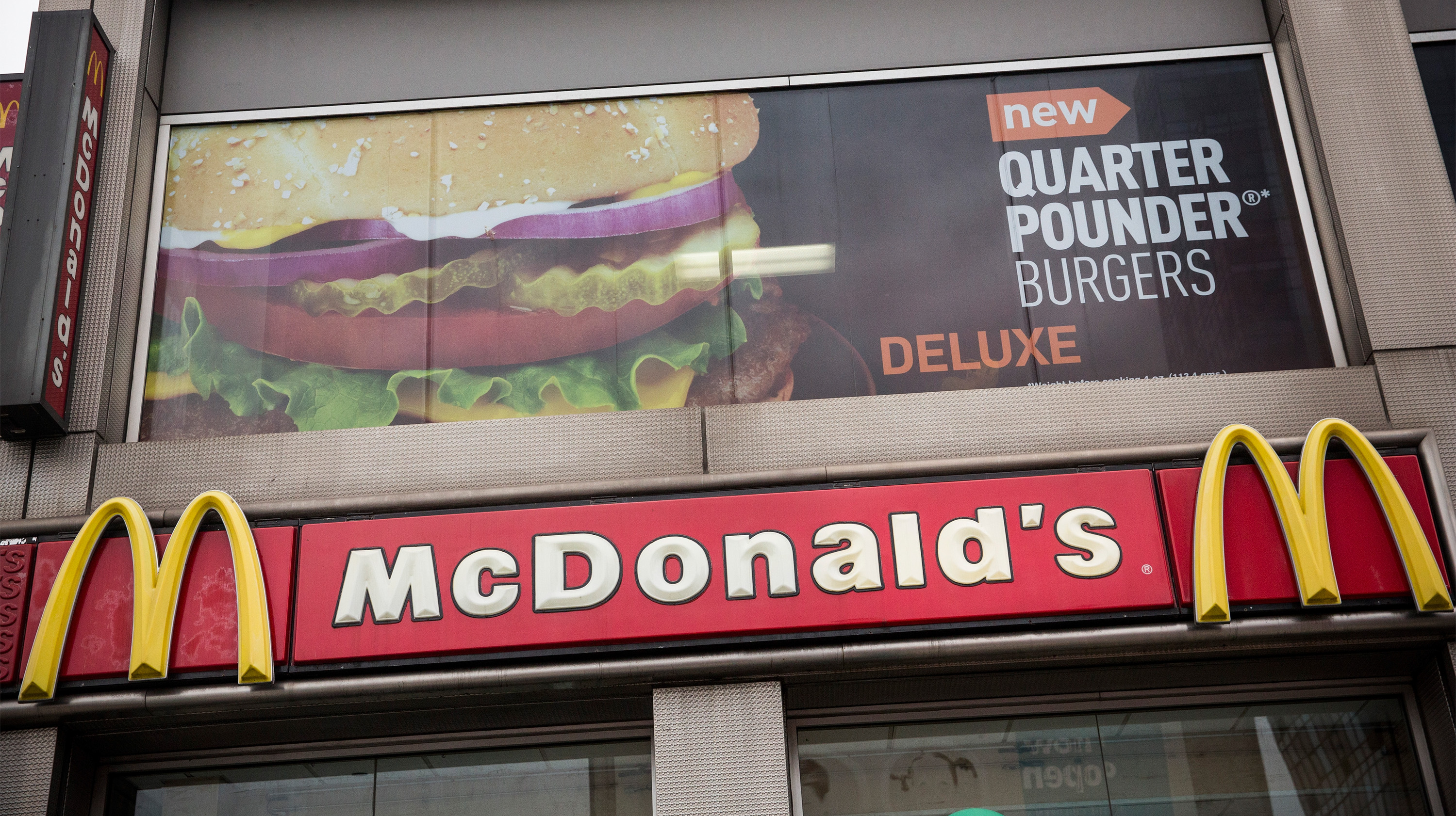 A McDonald's is seen on June 9, 2014 in New York City.