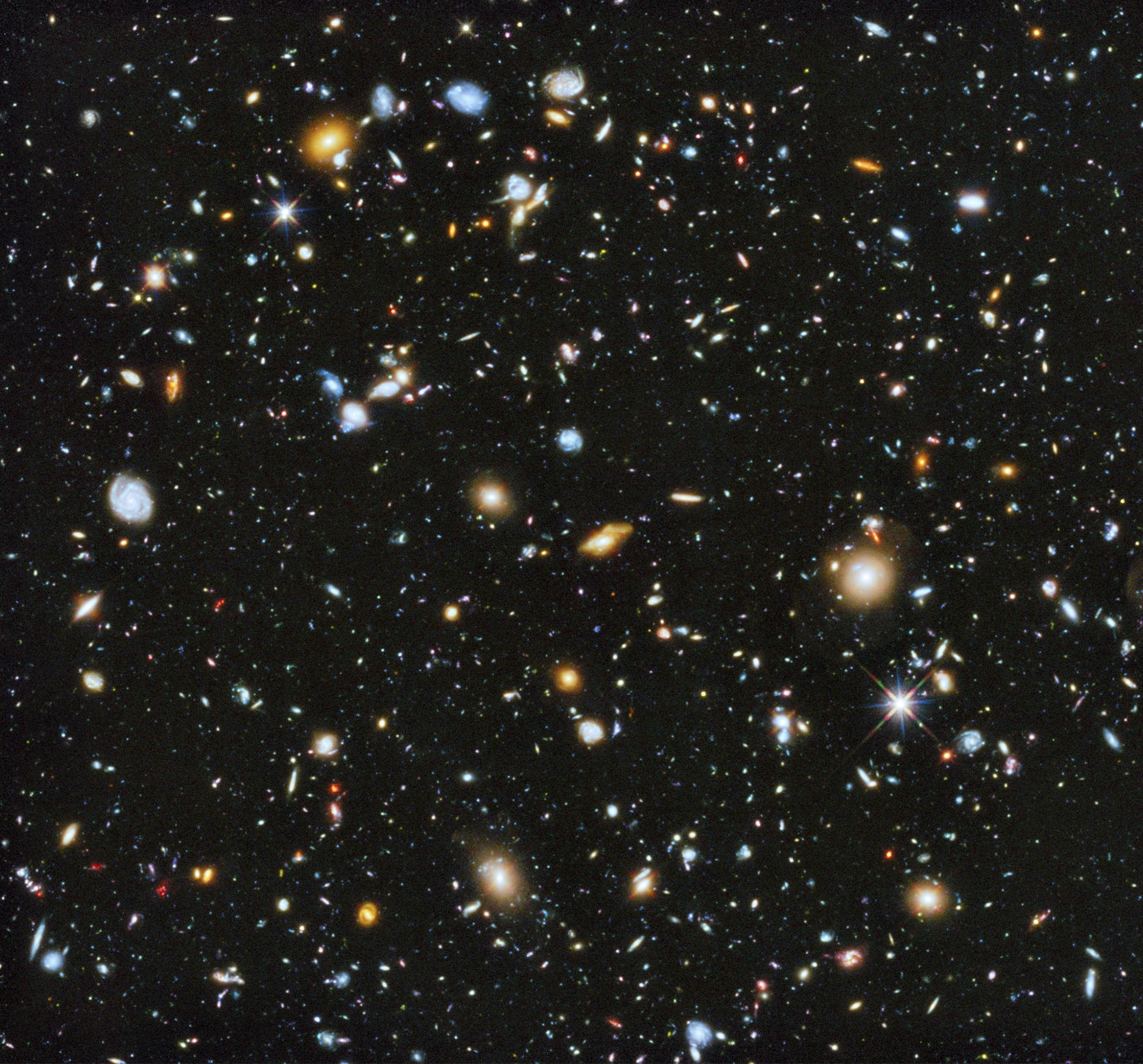 A composite of separate exposures taken in 2003 to 2012 with Hubble's Advanced Camera for Surveys and Wide Field Camera 3 of the evolving universe is shown in this image released on June 3, 2014.