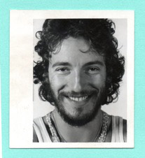 An original passport photo of Springsteen circa 1975.   After the success of Born To Run, Bruce was getting ready to travel abroad to London for the now famous Hammersmith-Odeon shows,  Crane says.  This established a strong fanbase of Springsteen enthusiasts in the UK.