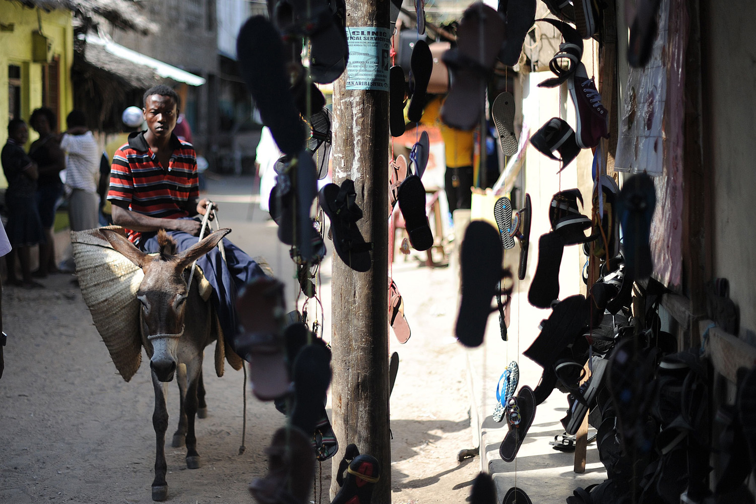 Jun. 18, 2014. A resident of the town of Lamu rides a donkey a few days after some 50 heavily-armed gunmen attacked the town near the coastal island and popular tourist resort of Lamu.