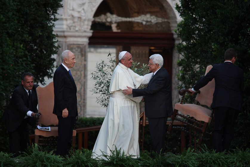 Prayer for peace at Vatican Gardens