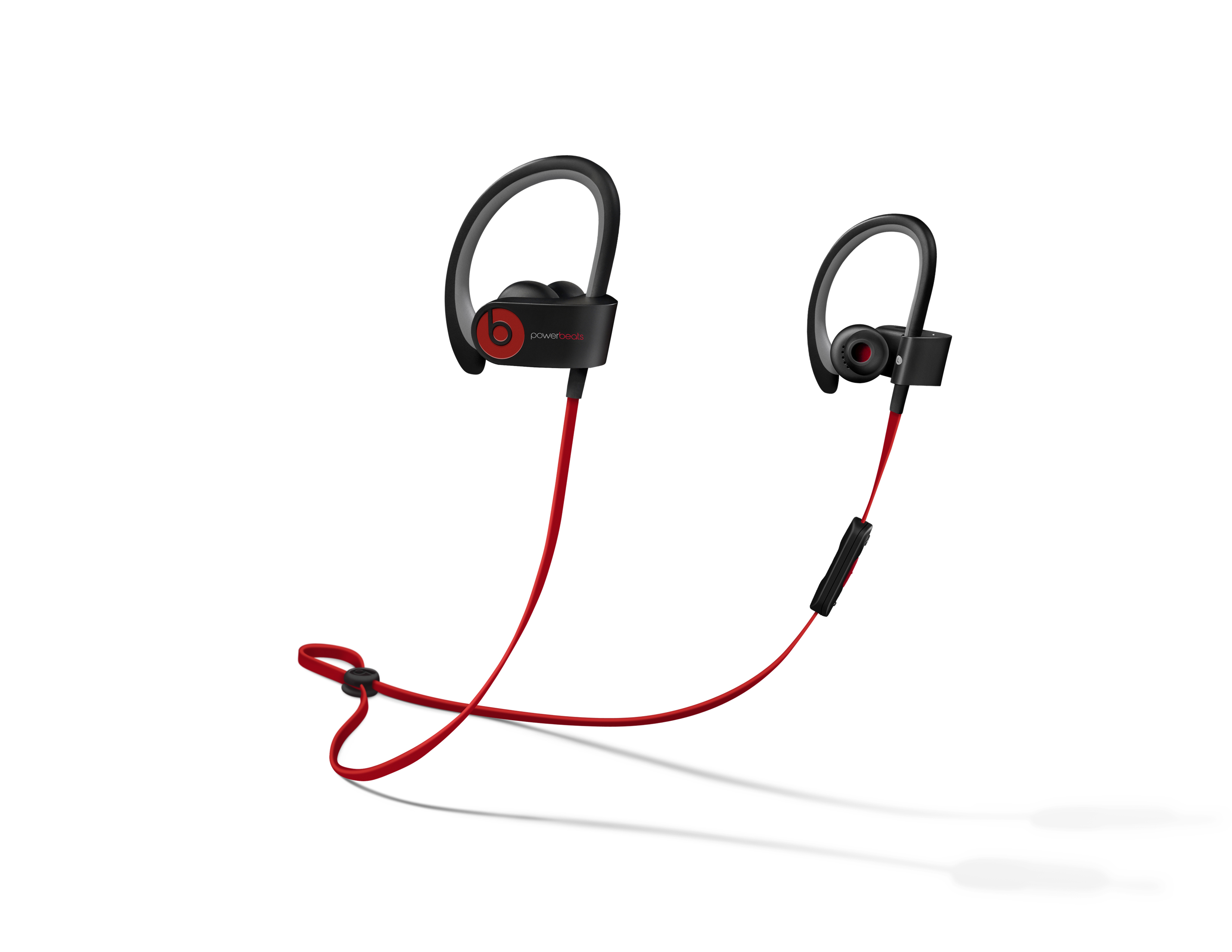 A pair of red Powerbeats2 Wireless earphones, which were released on Thursday.