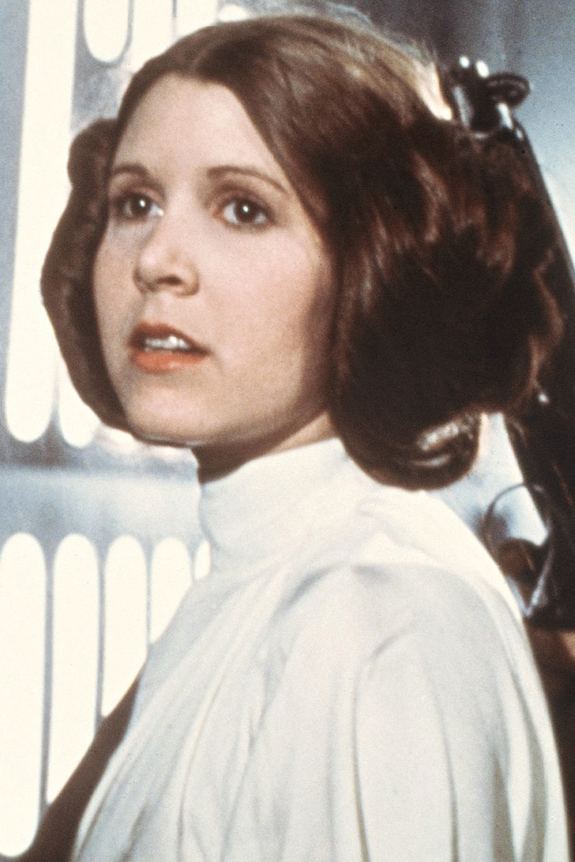 Carrie Fisher, as Princess Leia Organa, in a scene from the 1977  Star Wars  movie released by 20th Century-Fox.