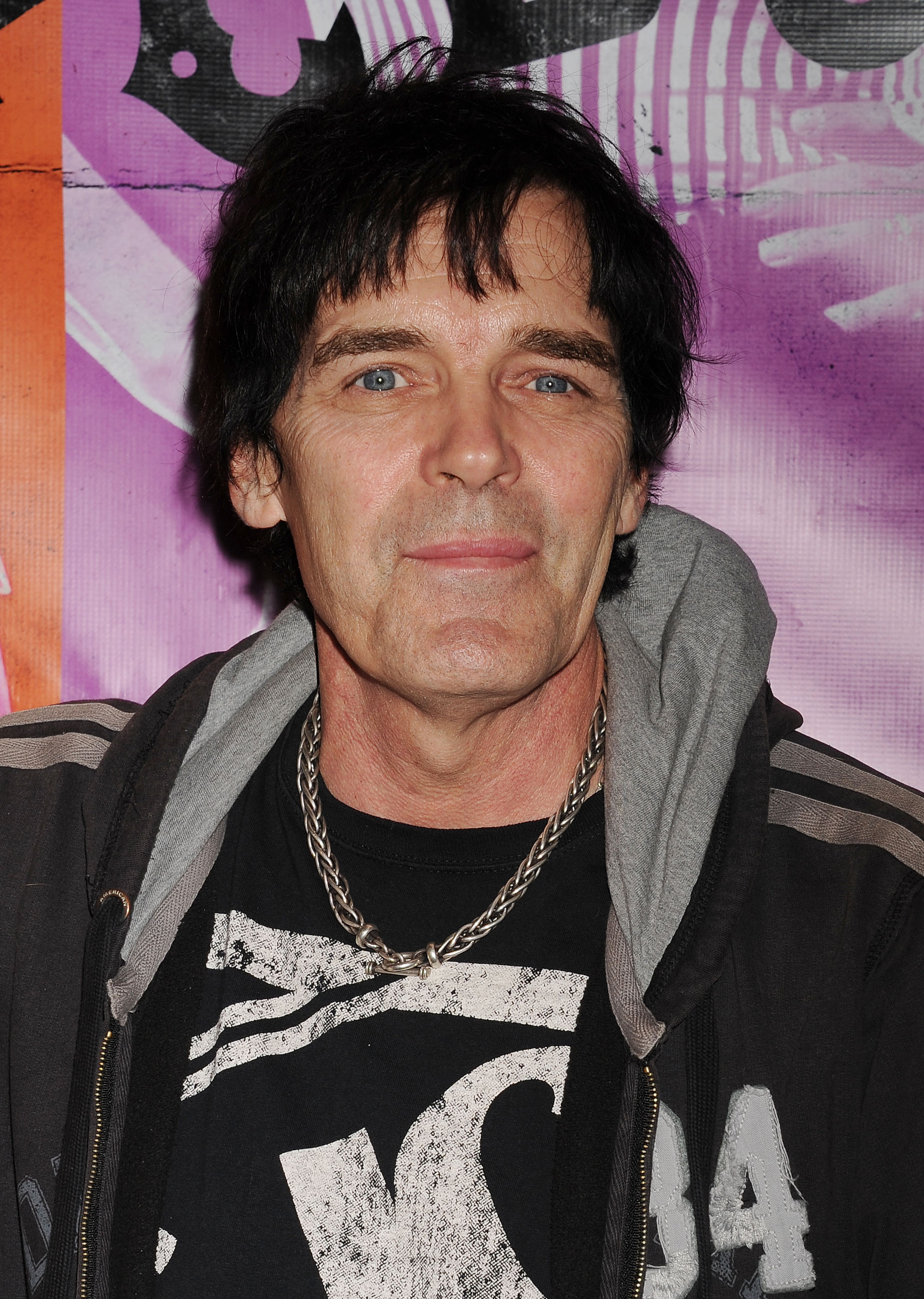 Ramones drummer Richie Ramone at a screening in Hollywood, California  on October 1, 2013 .