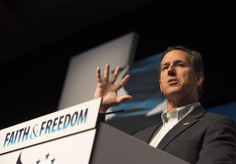 Former Pennsylvania Sen. Rick Santorum speaks at Faith and Freedom Coalition's Road to Majority event in Washington D.C. on June 20, 2014.