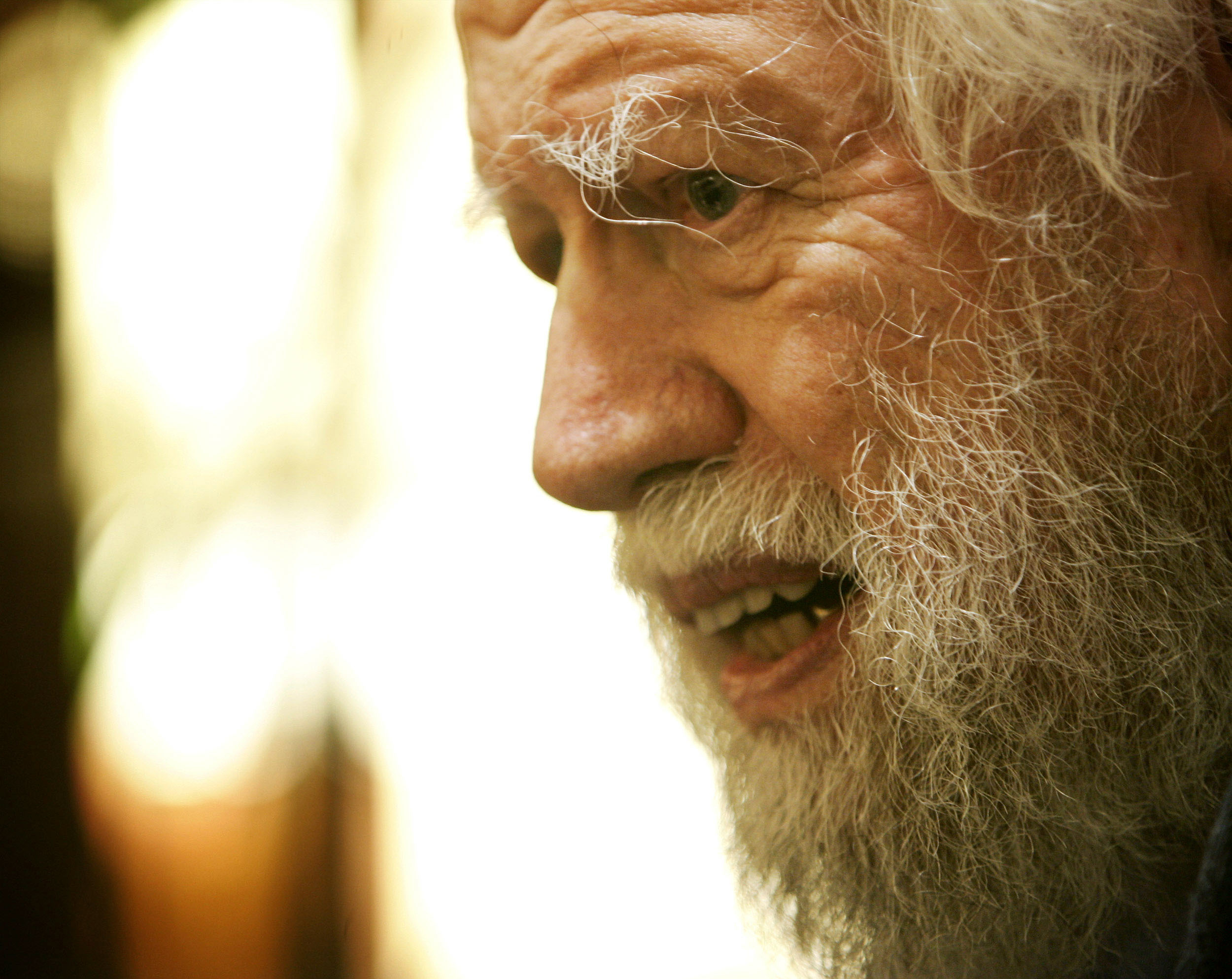 Alexander Shulgin, pharmacologist and chemist known for his creation of new psychoactive chemicals, is interviewed in Cambridge, Mass., on Dec. 1, 2005