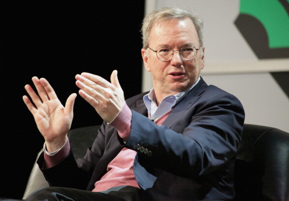 Google executive chairman Eric Schmidt speaks during the 2014 SXSW Festival in Austin on March 7, 2014