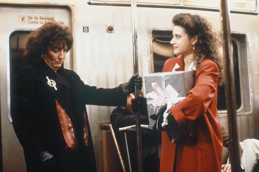 Julia Louis-Dreyfus as Elaine Benes on the television show Seinfeld.