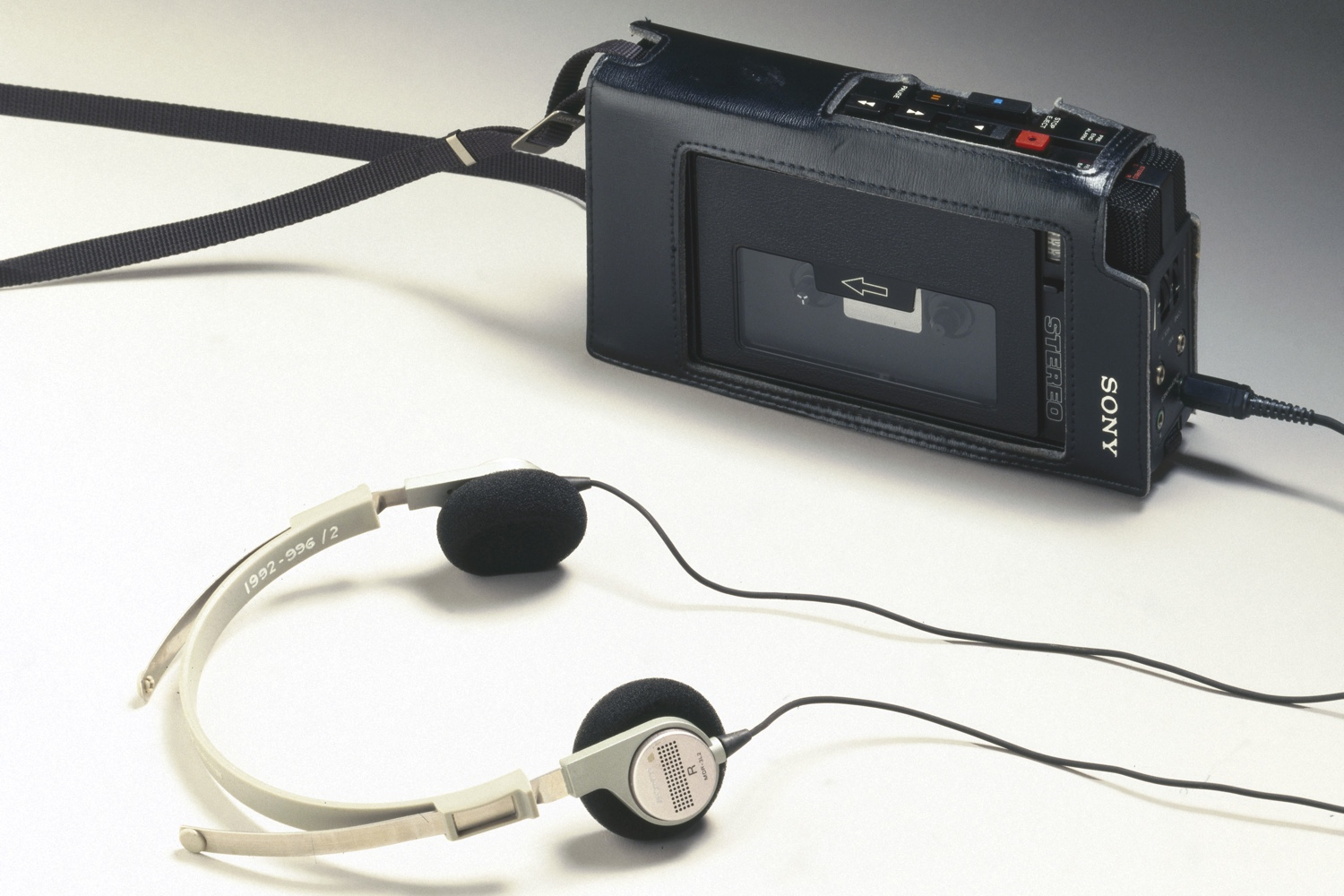 The original 'Walkman', model TCS 300, made by Sony of Japan. The TCS 300 was the first personal stereo cassette recorder manufactured by Sony.