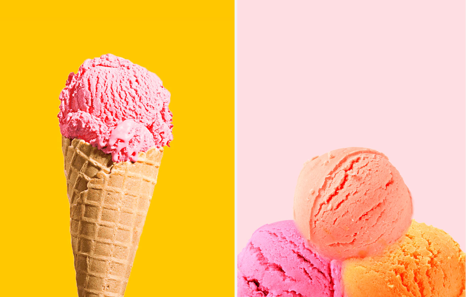 Which is better for you: Half cup of ice cream or 3 scoops of sorbet?