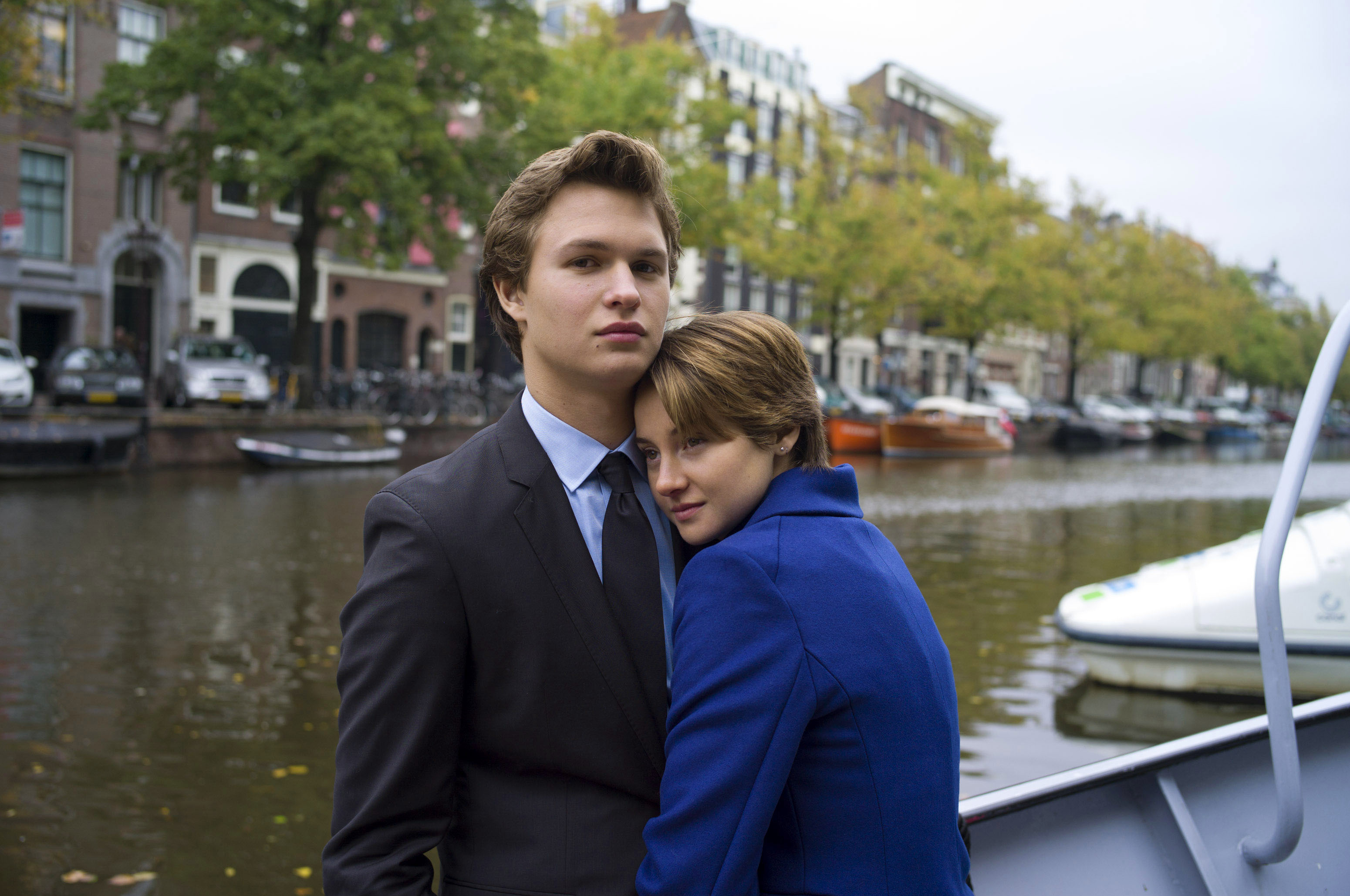 Ansel Elgort, left, and Shailene Woodley appear in a scene from  The Fault In Our Stars.