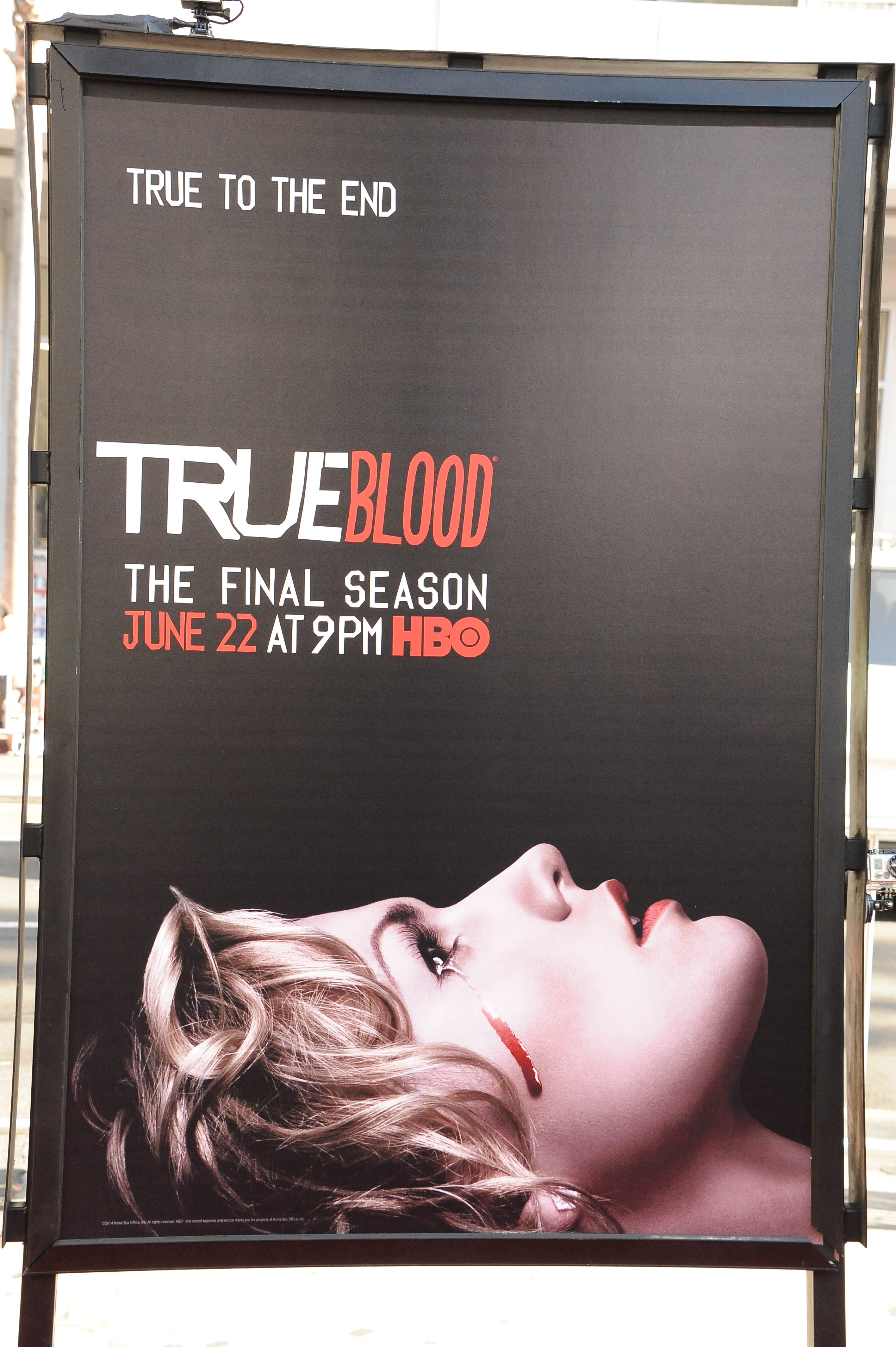 Poster for HBO's  True Blood  season 7 and final season held at TCL Chinese Theatre in Hollywood.