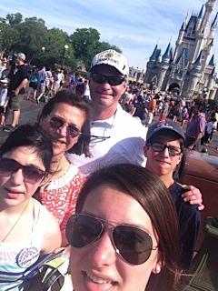 The Sullivan family at Disneyland