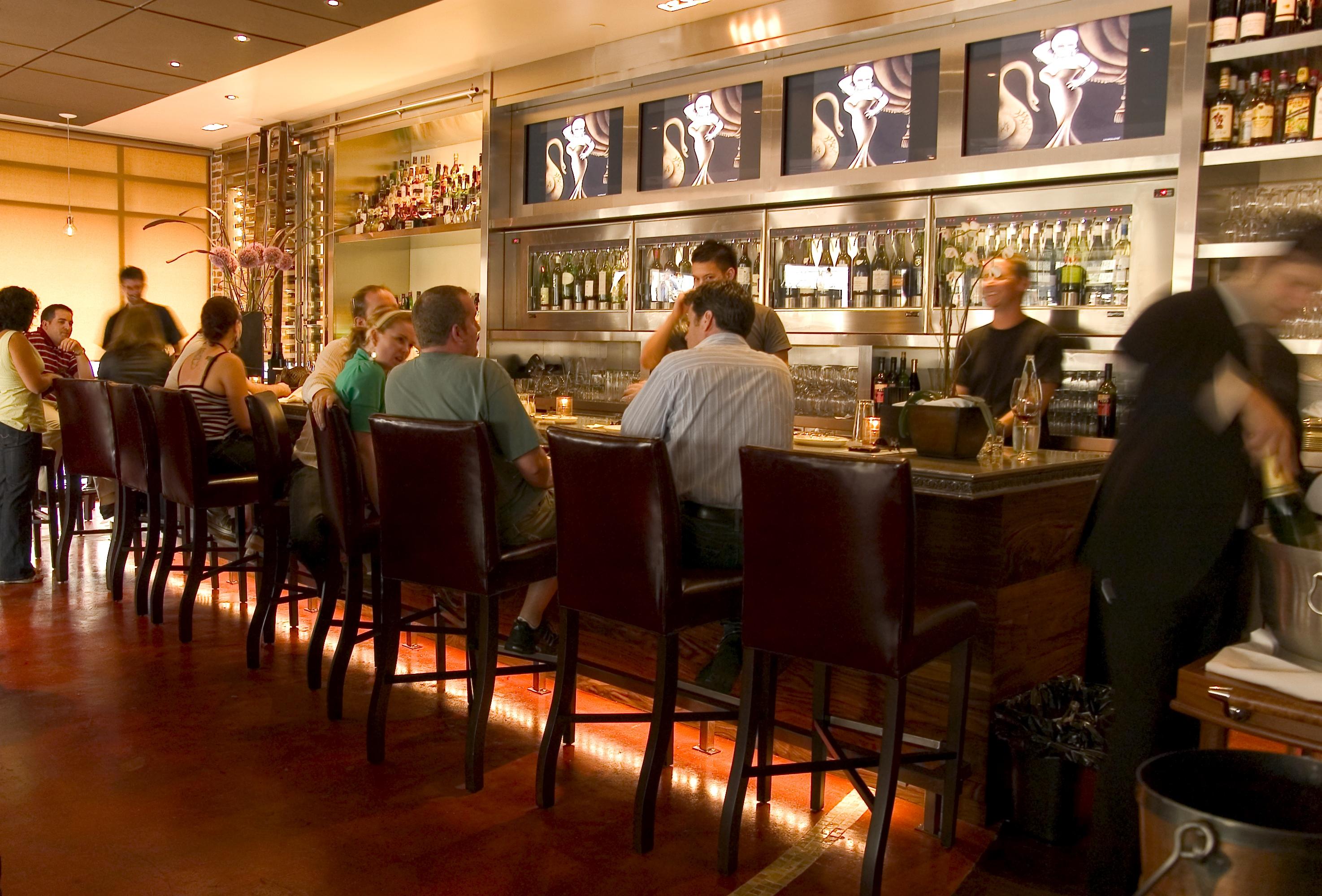 The bar inside Proof on G street in Washington, D.C.