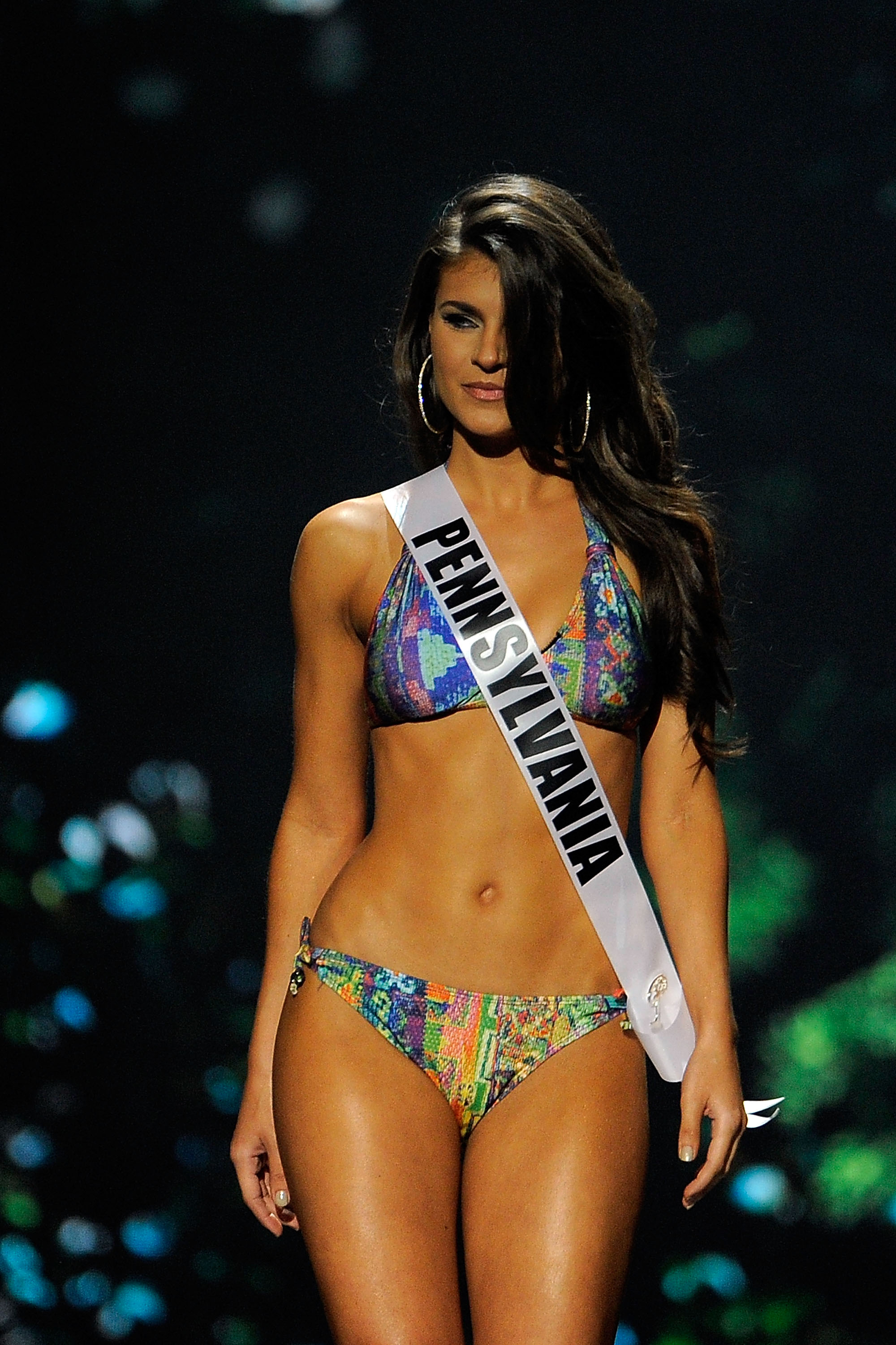 Miss Pennsylvania USA Valerie Gatto attends the 2014 Miss USA preliminary competition in Baton Rouge, La., on June 4, 2014.