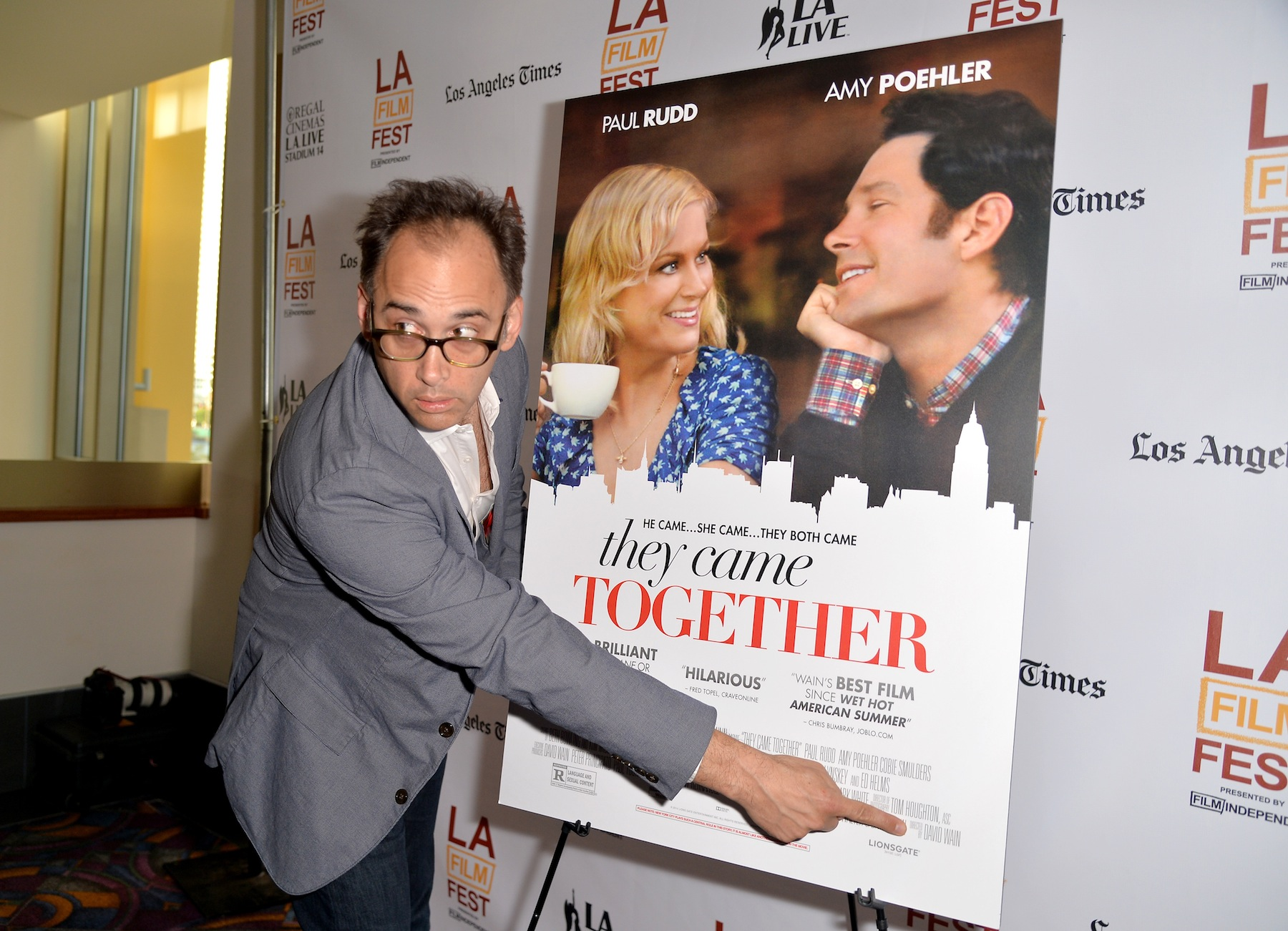 David Wain attends the premiere of  They Came Together  during the 2014 Los Angeles Film Festival on June 16, 2014 in Los Angeles