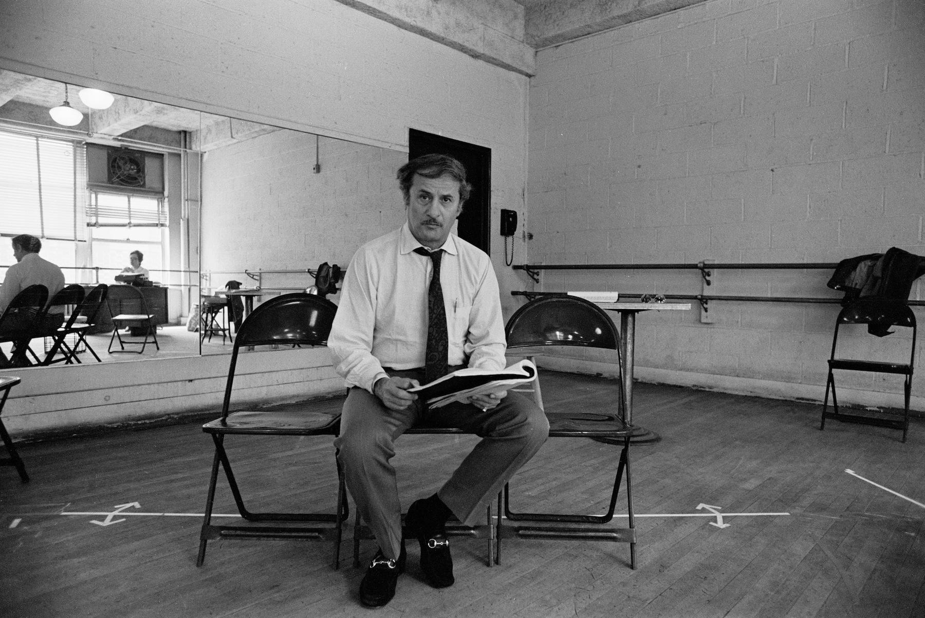 Eli Wallach rehearsing on May 17,1971, in New York, New York.