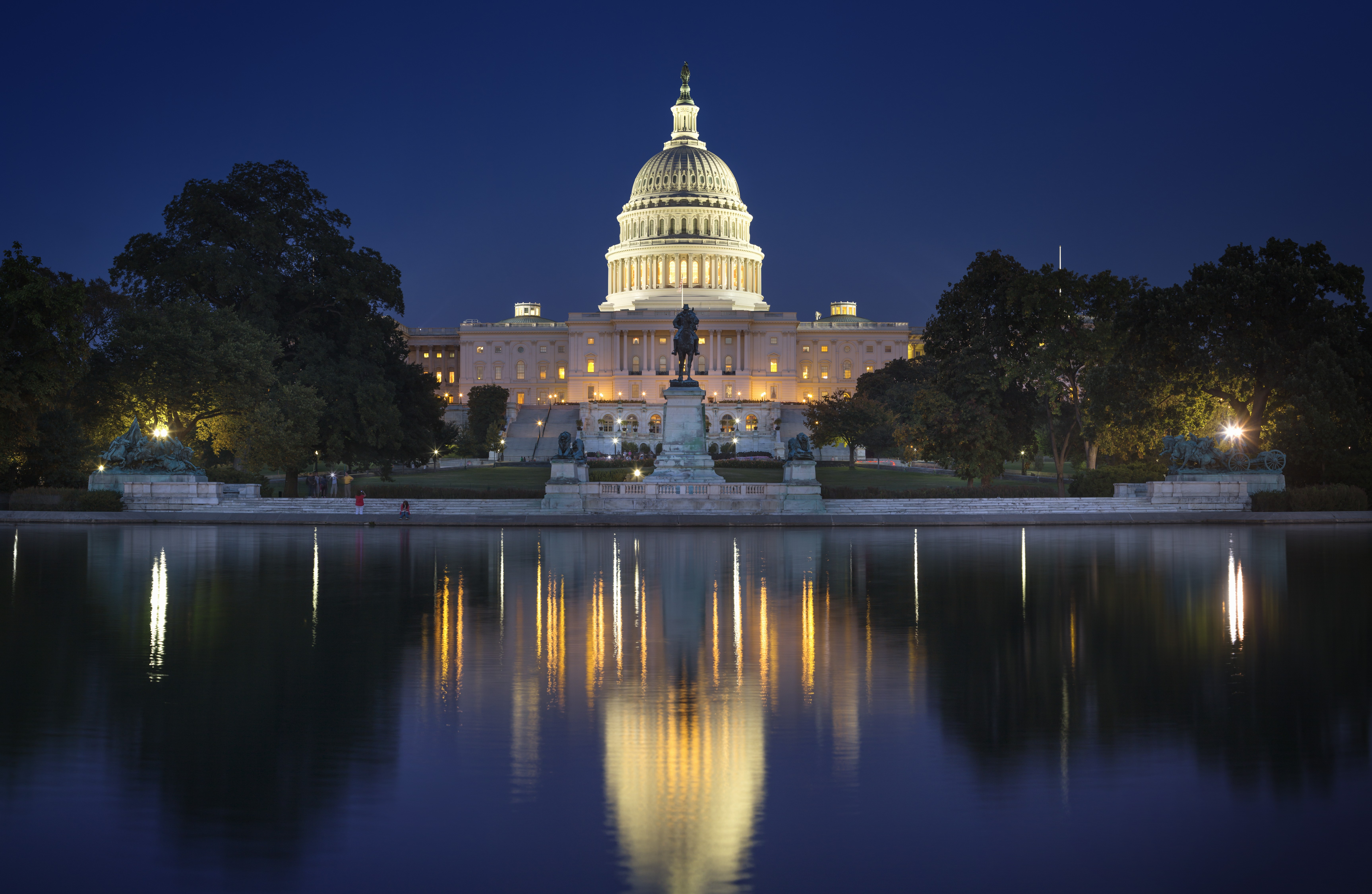 View of the U.S. Capitol over the Reflecting Pool in Washington D.C on Oct. 6, 2013.