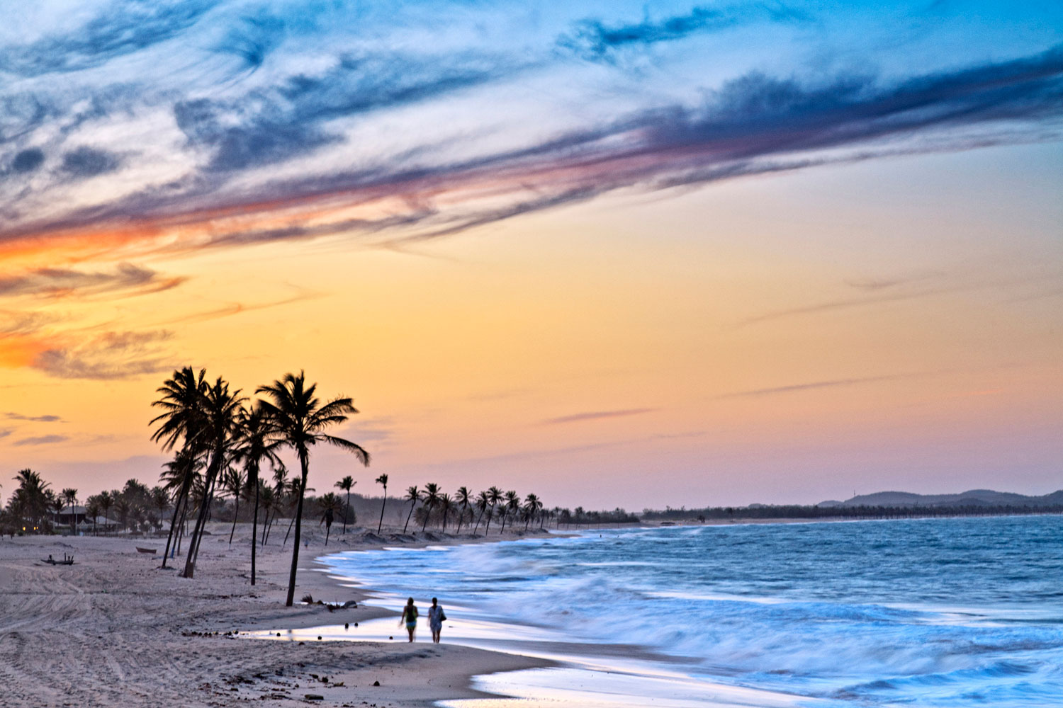 The Cucumbo beaches line the state of Ceara's coast, popular amongst kite- and wind- surfers, and known for its fines and and palm tree-lined shores.