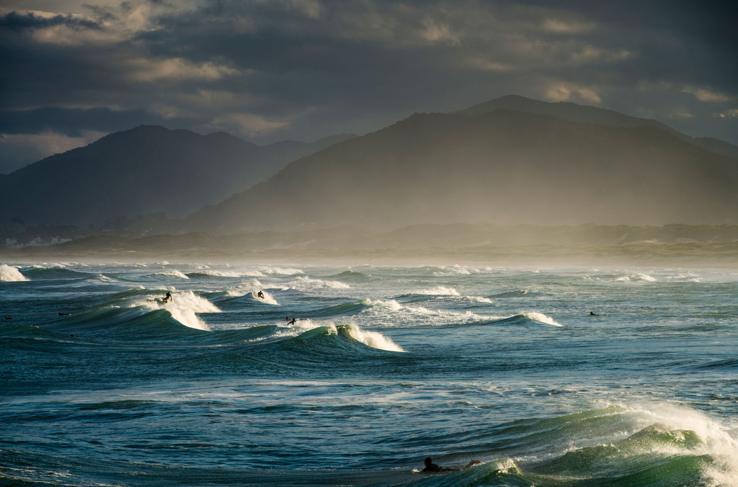 Joaquina Beach, located in the south of Brazil, is one of the most popular beaches for surfers.