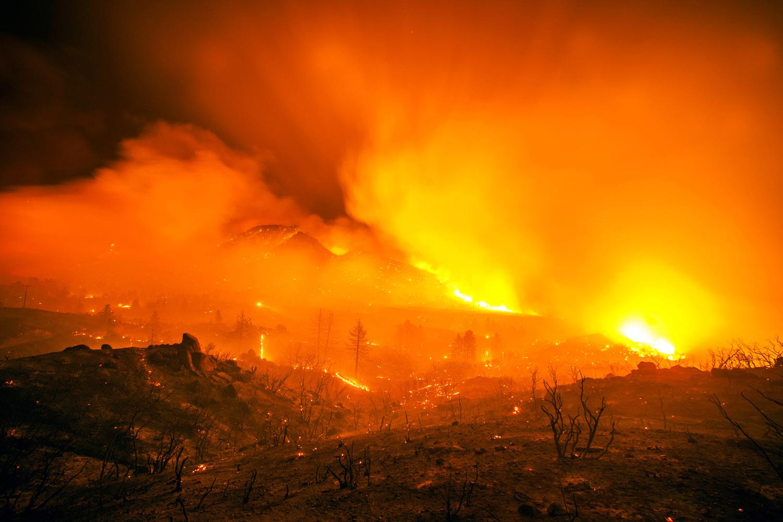 Mountain Fire near Mountain Center, Riverside County, Calif., July 16, 2013.