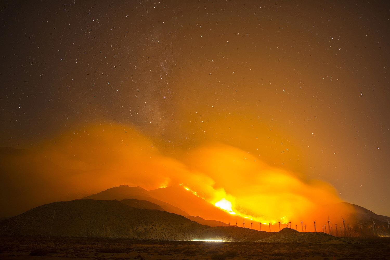 The Silver Fire burns near Cabezon, Calif., Aug. 8, 2013.
