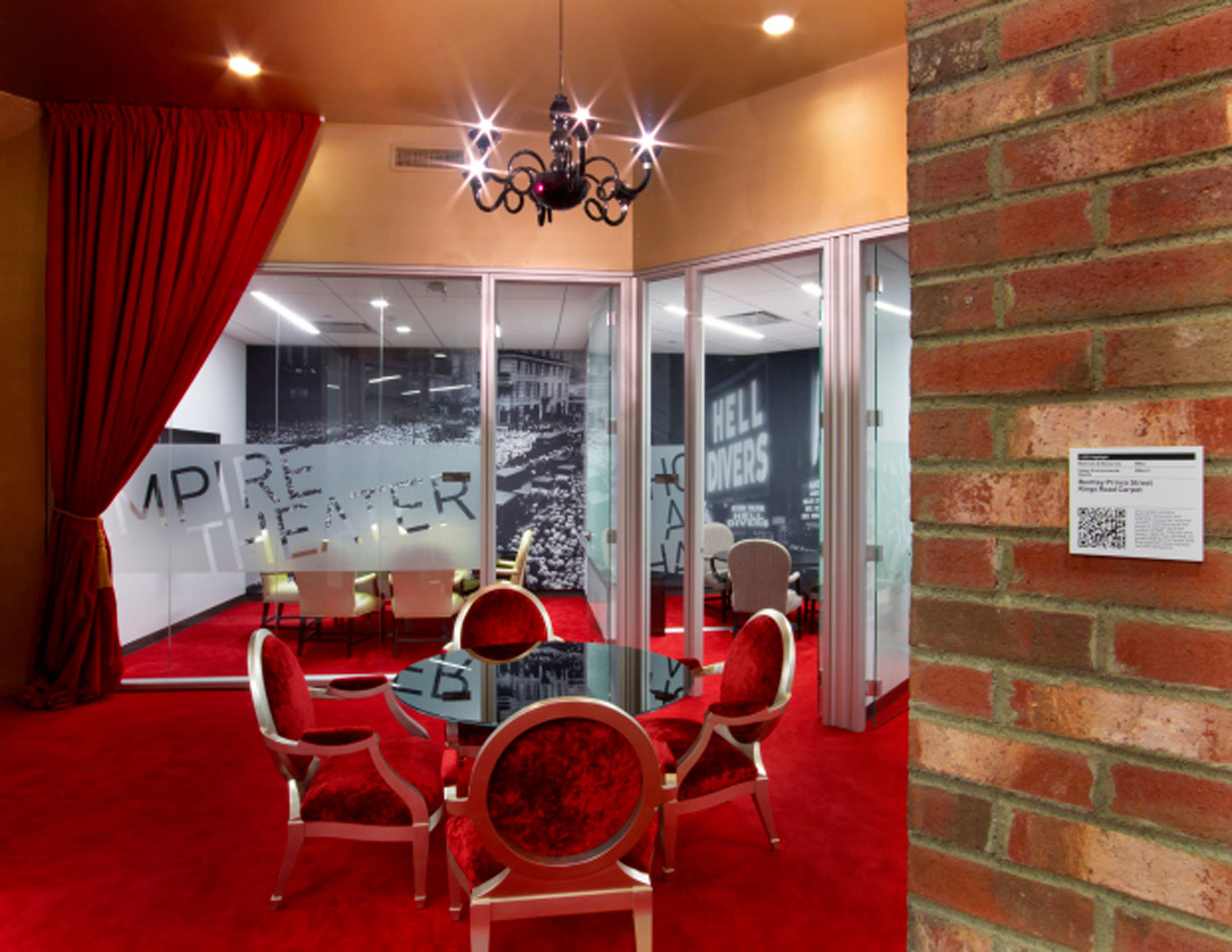 The Broadway themed conference rooms on Google's New York City-themed floor.