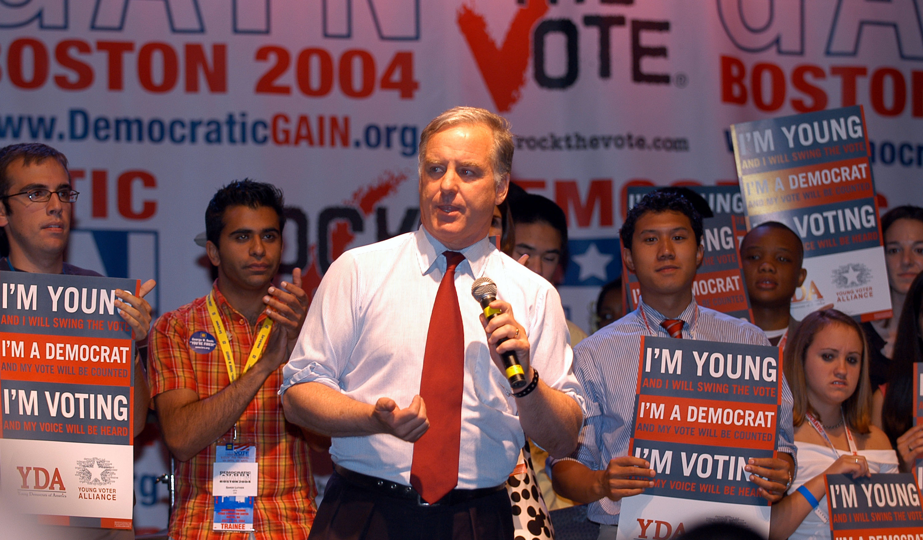 Governor Howard Dean during Democratic Gain & Rock The Vote Host  Jump Off  at Avalon Nightclub in Boston, Massachusetts, United States.