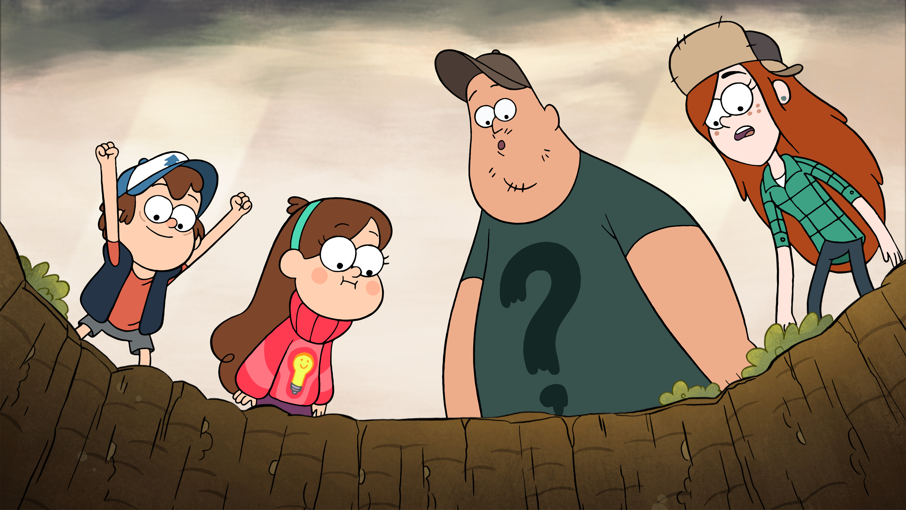 Dipper, Mabel, Soos and Wendy from Gravity Falls